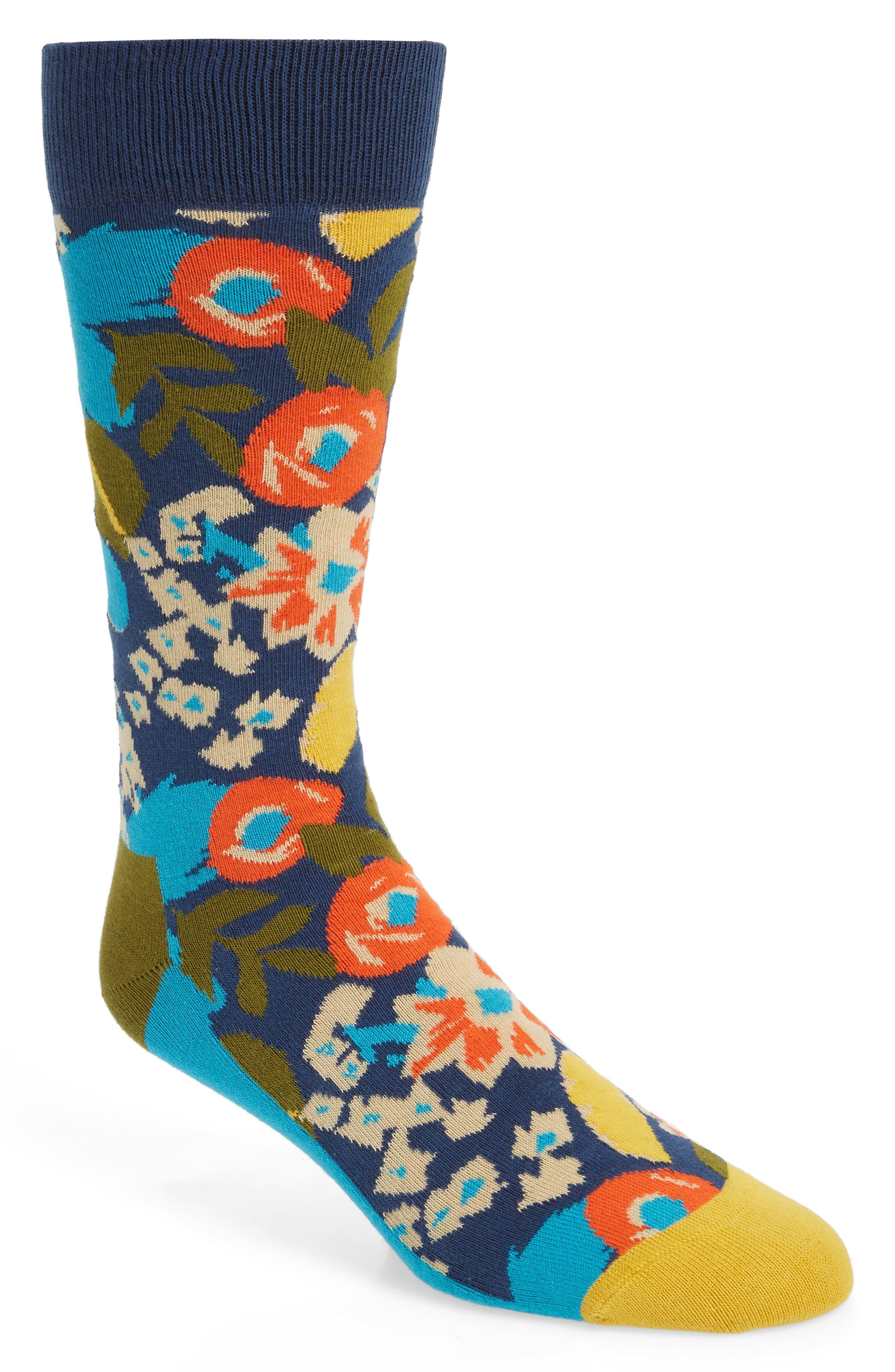 x Wiz Khalifa Top Floor Socks,                         Main,                         color, NAVY MULTI