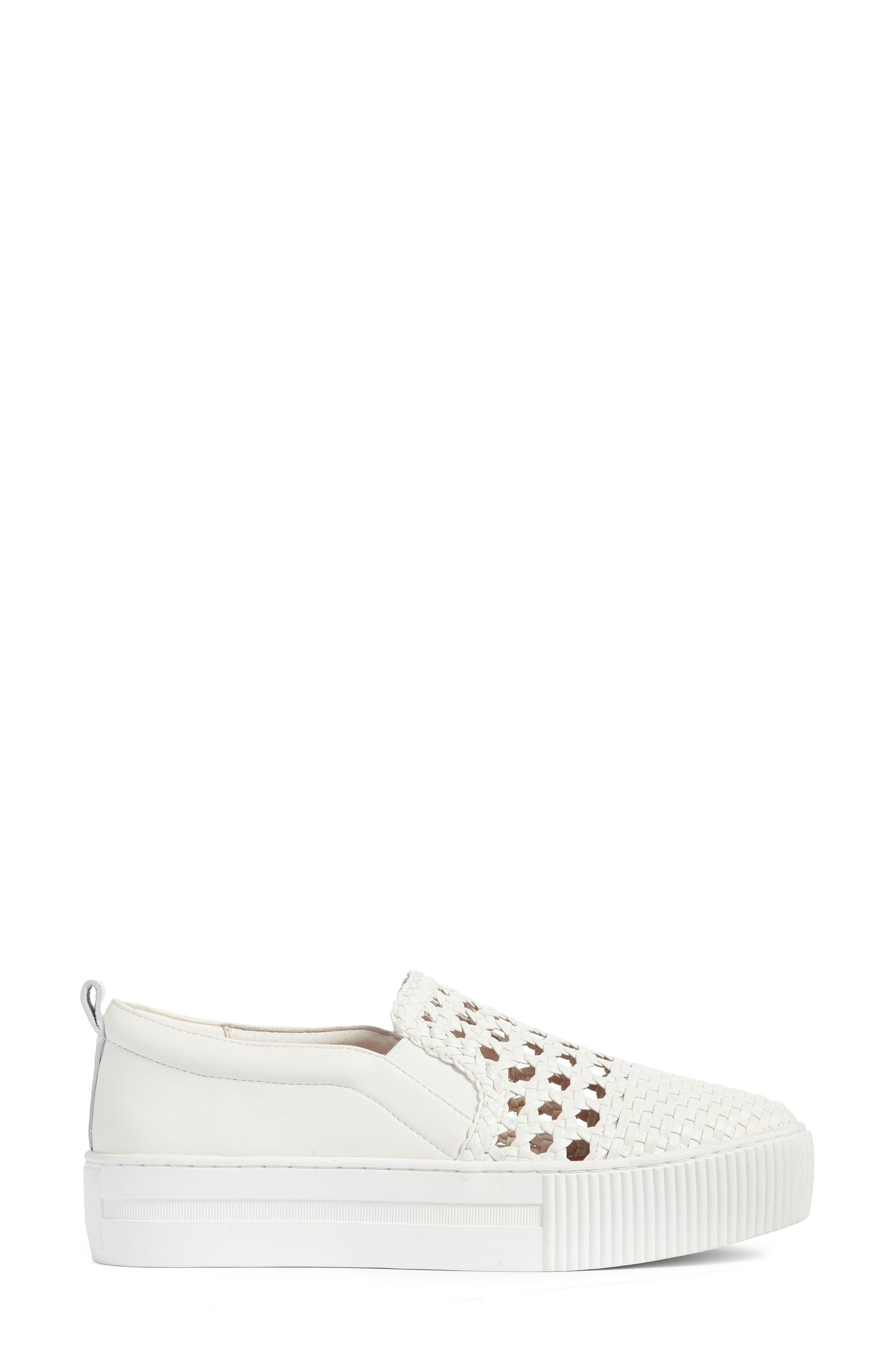 Baylee Slip-On Sneaker,                             Alternate thumbnail 3, color,                             WHITE WOVEN