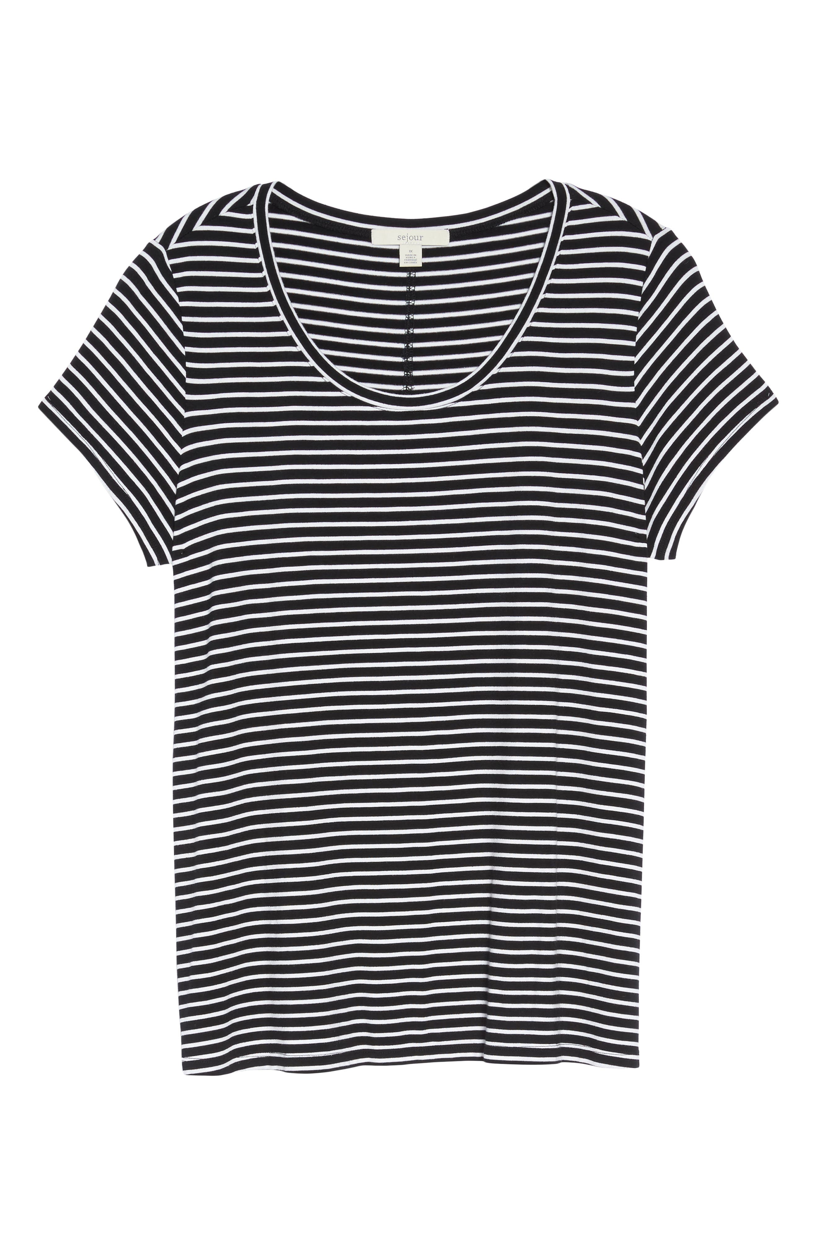 Stretch Scoop Neck Tee,                             Alternate thumbnail 17, color,
