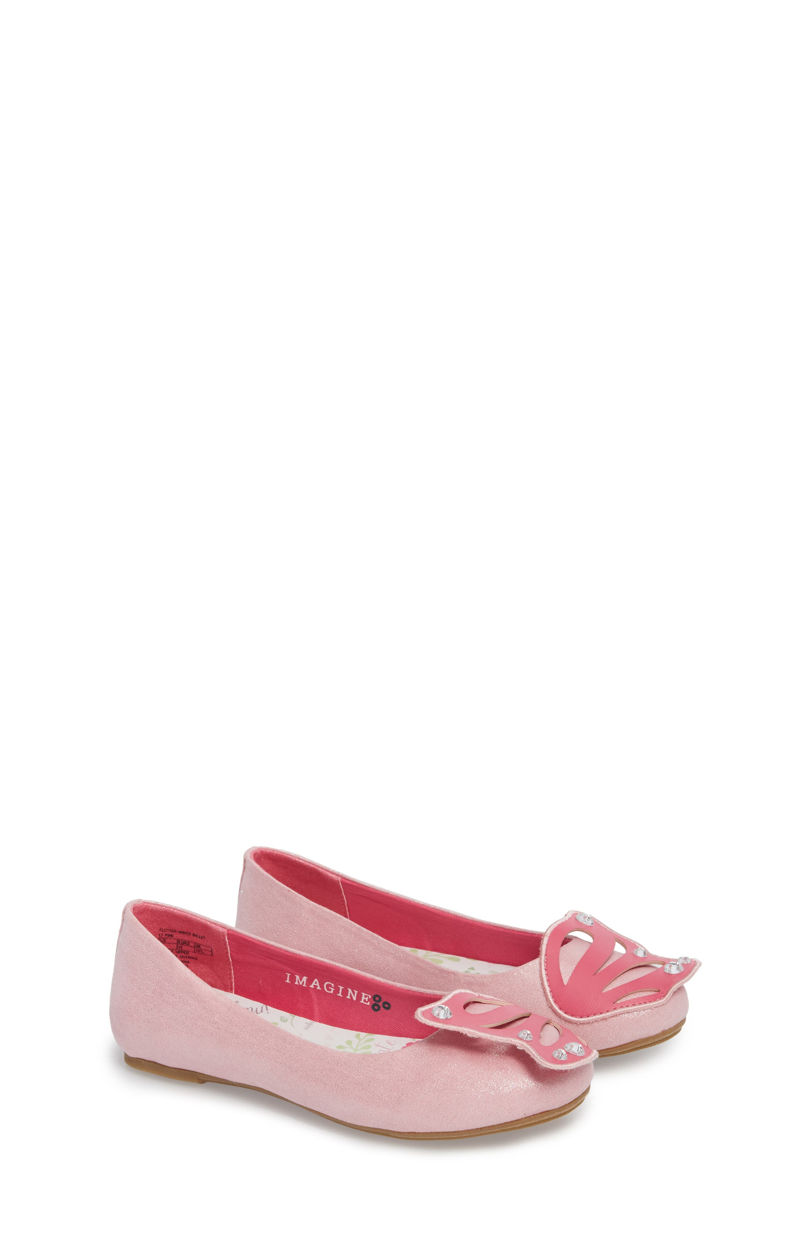 WellieWishers by American Girl Flutter Wings Embellished Ballet Flat,                             Main thumbnail 1, color,