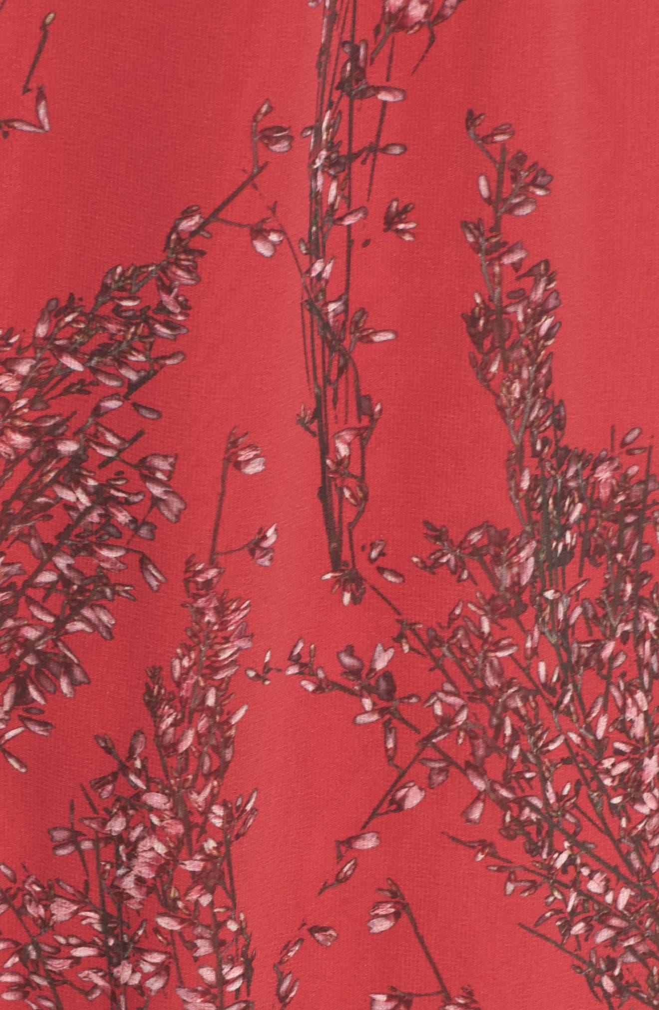 Asymmetrical Ruffle Dress,                             Alternate thumbnail 6, color,                             622