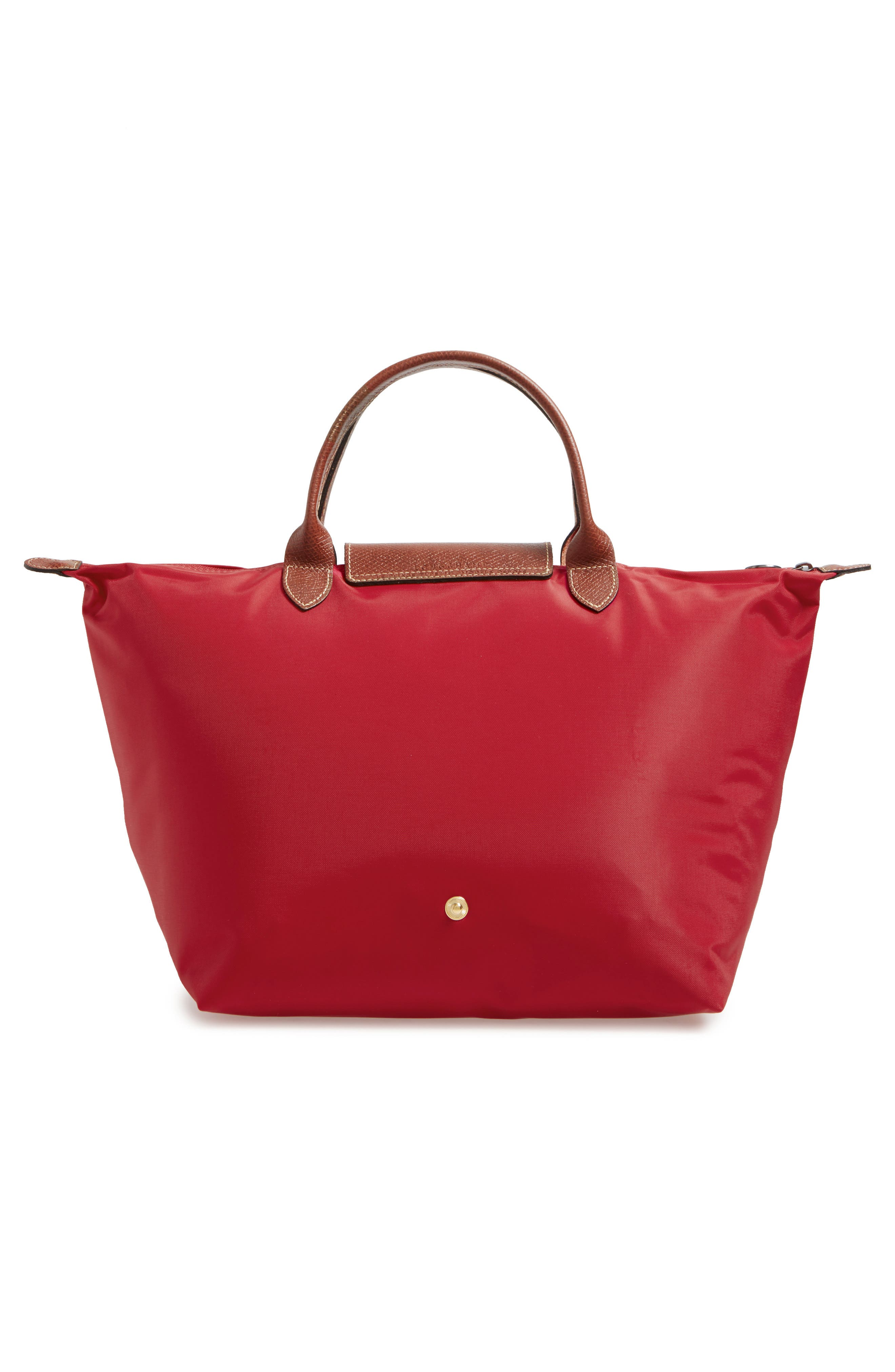 'Medium Le Pliage' Top Handle Tote,                             Alternate thumbnail 3, color,                             RED
