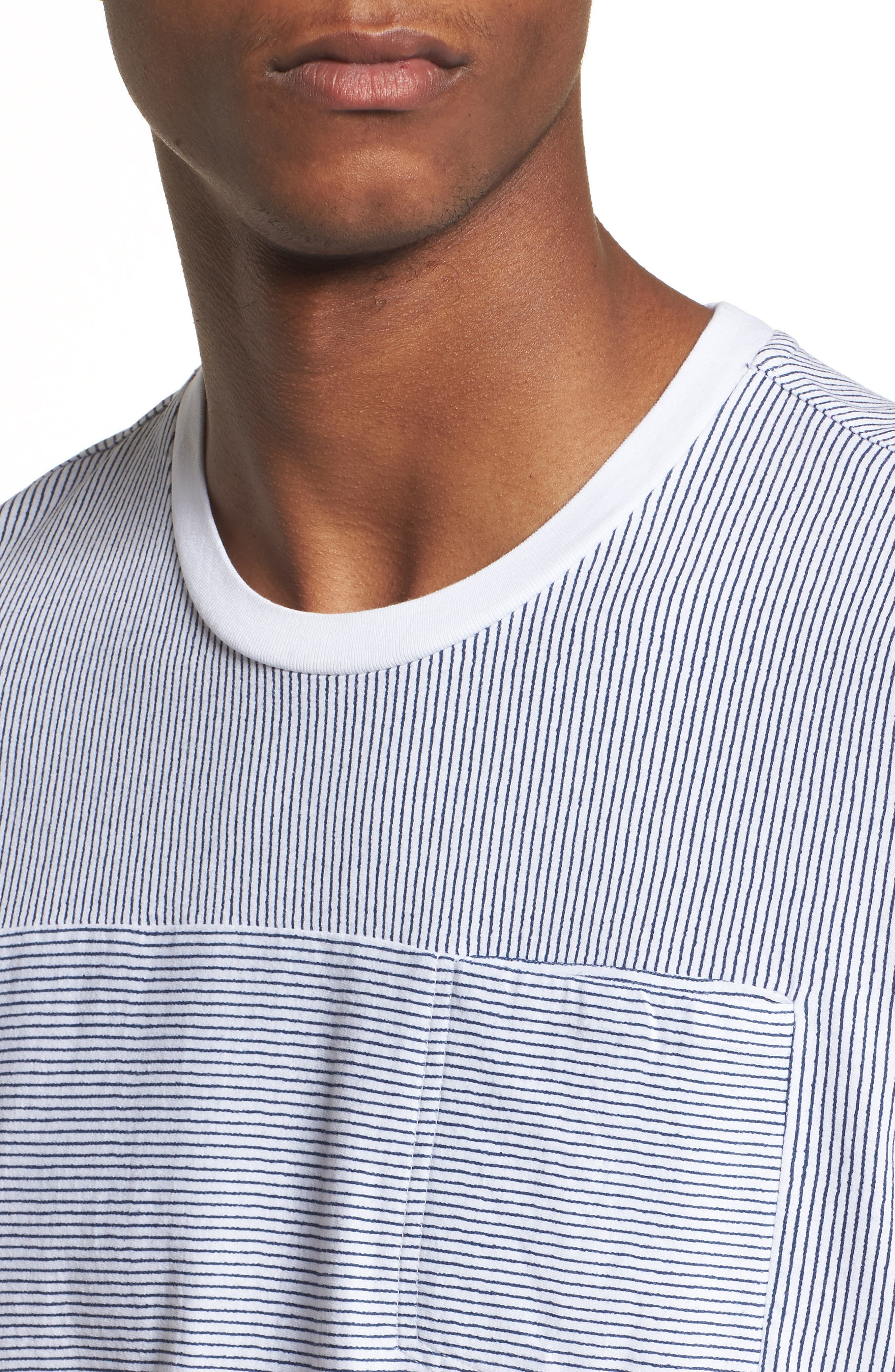 Pinstripe Pocket T-Shirt,                             Alternate thumbnail 4, color,