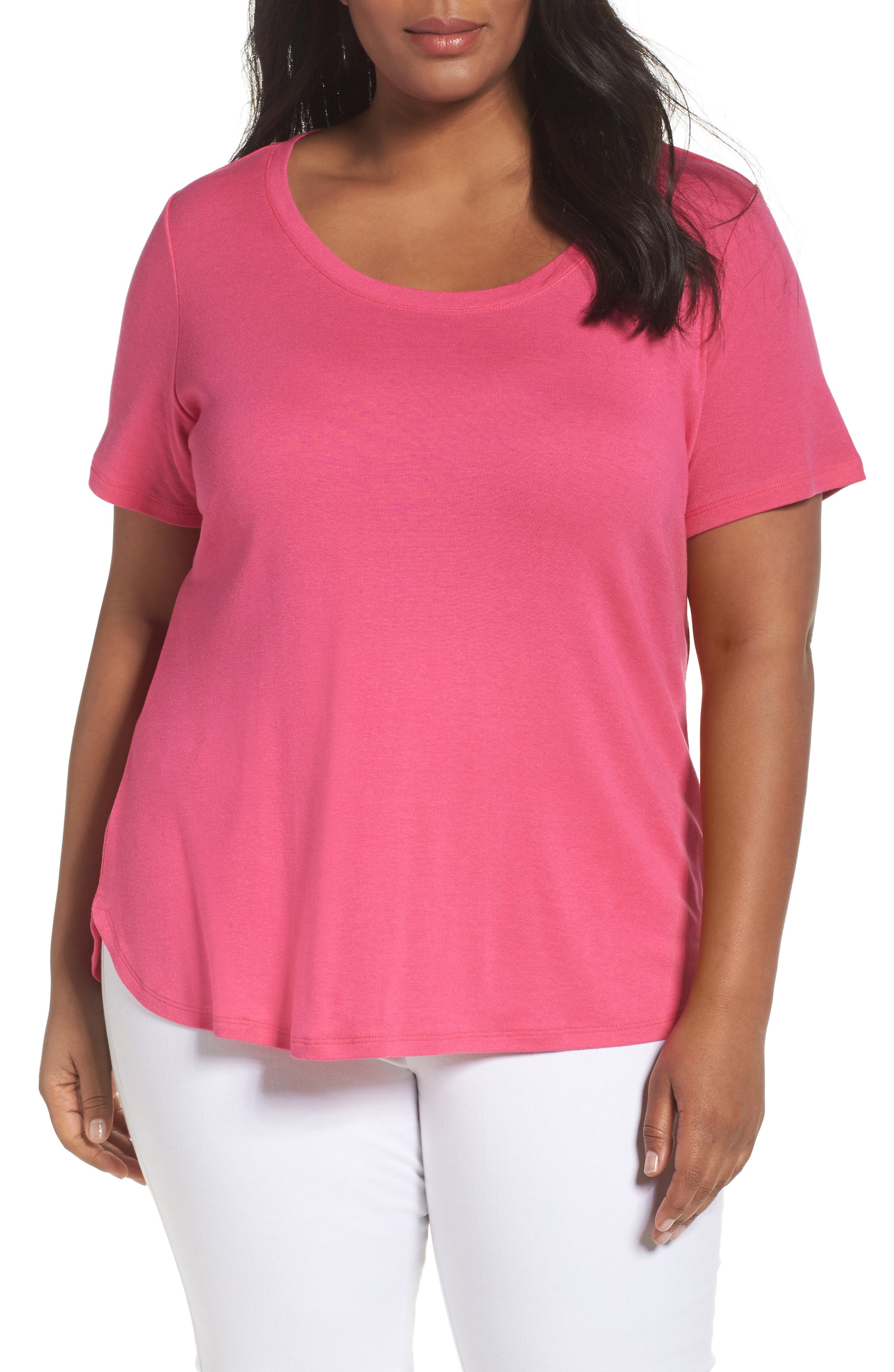 Scoop Neck Tee,                             Main thumbnail 13, color,