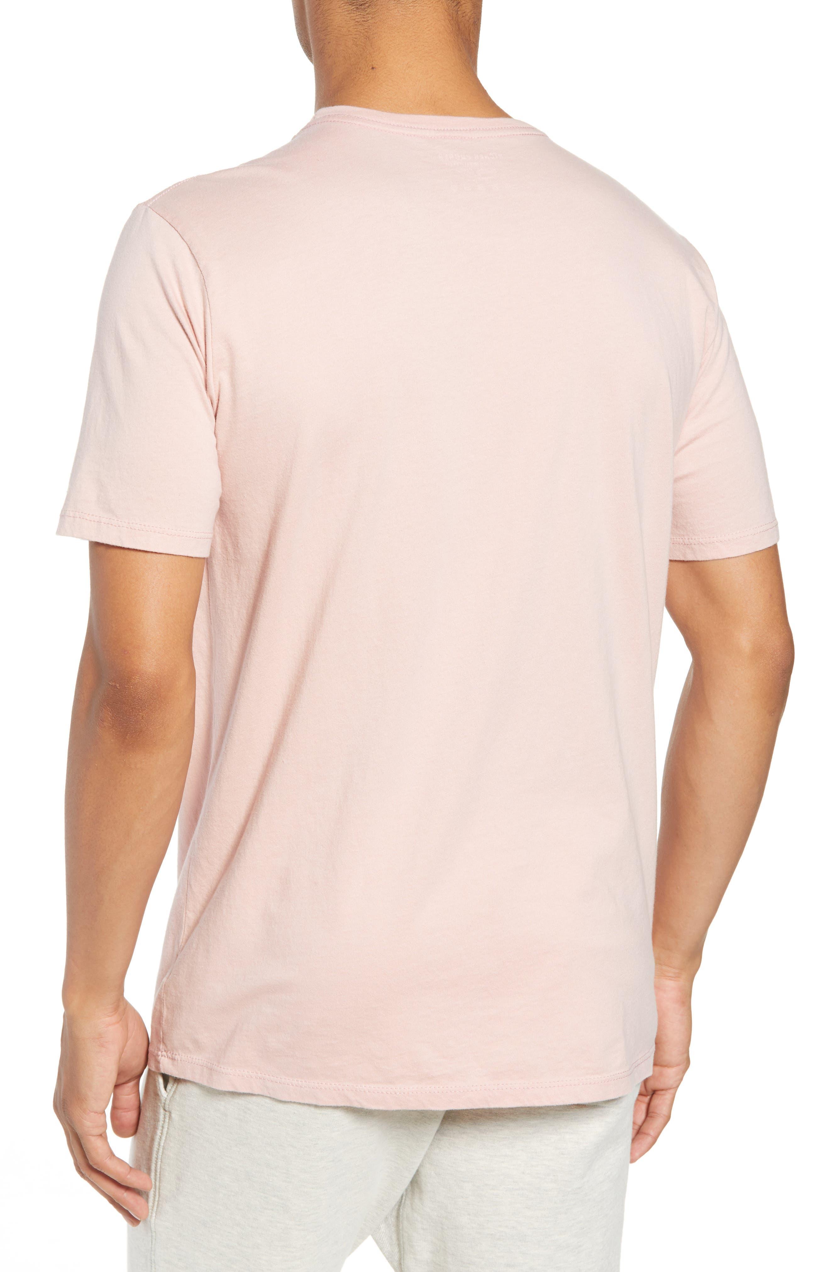 Crewneck Cotton T-Shirt,                             Alternate thumbnail 2, color,                             BLUSH