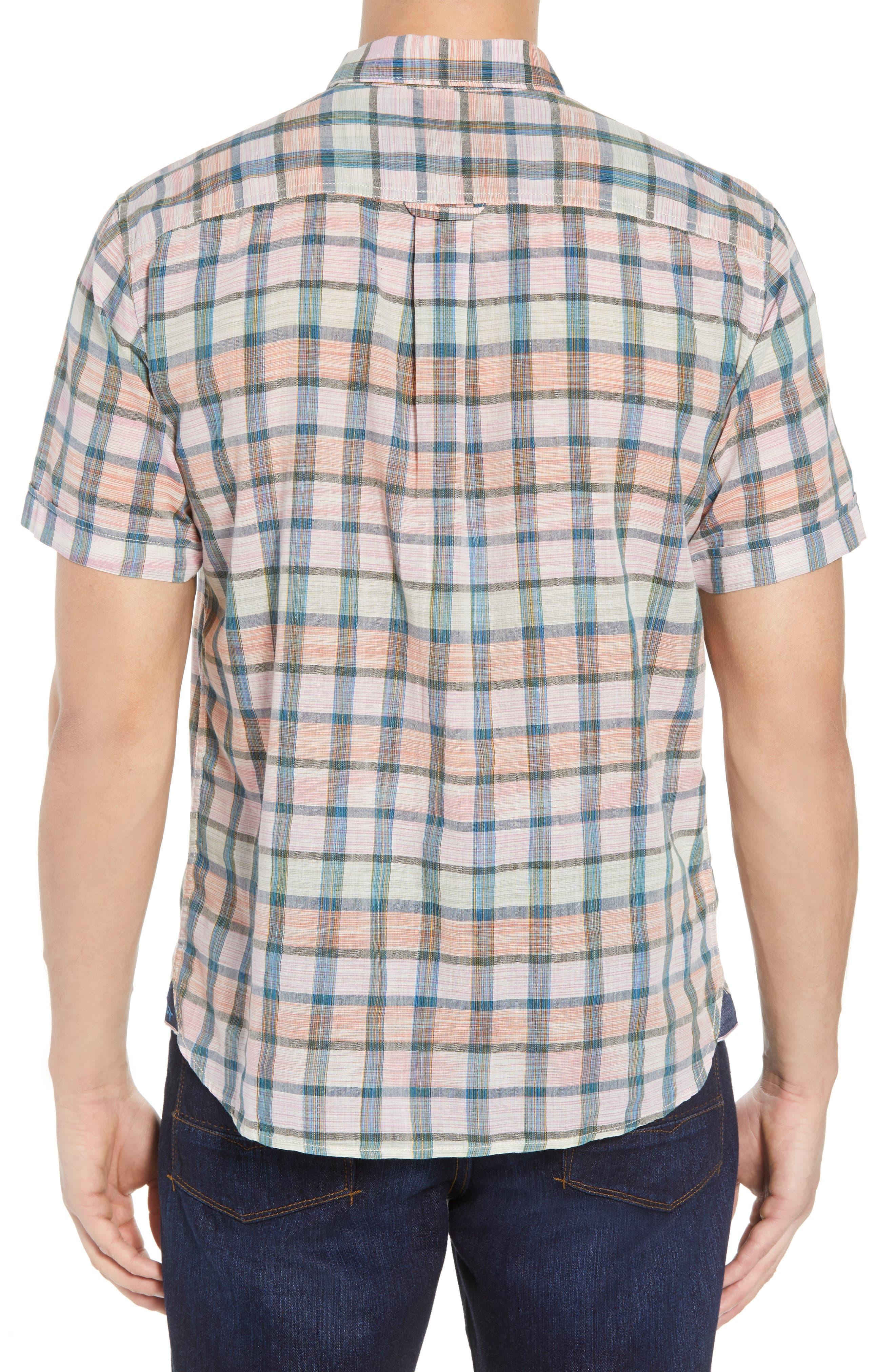 Pico Plaid Sport Shirt,                             Alternate thumbnail 2, color,                             800