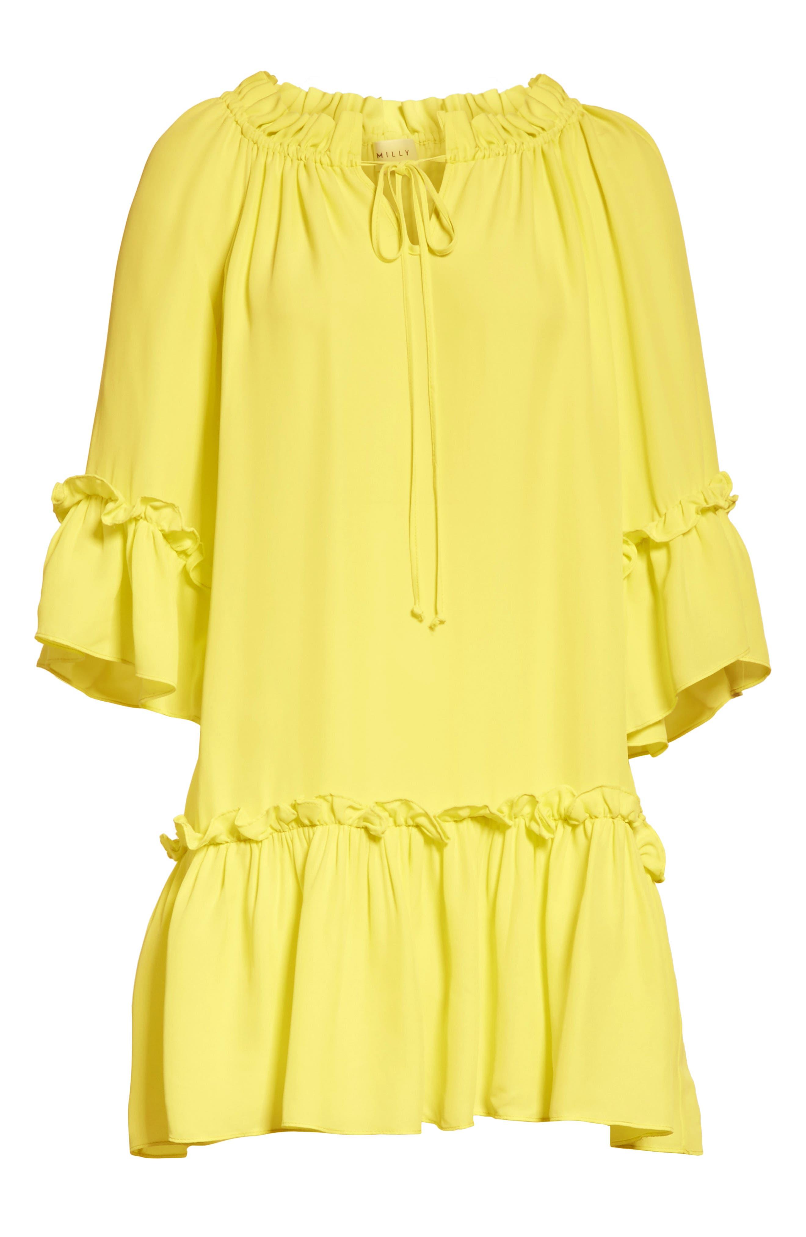 Santorini Ruffle Mini Dress,                             Alternate thumbnail 7, color,                             750