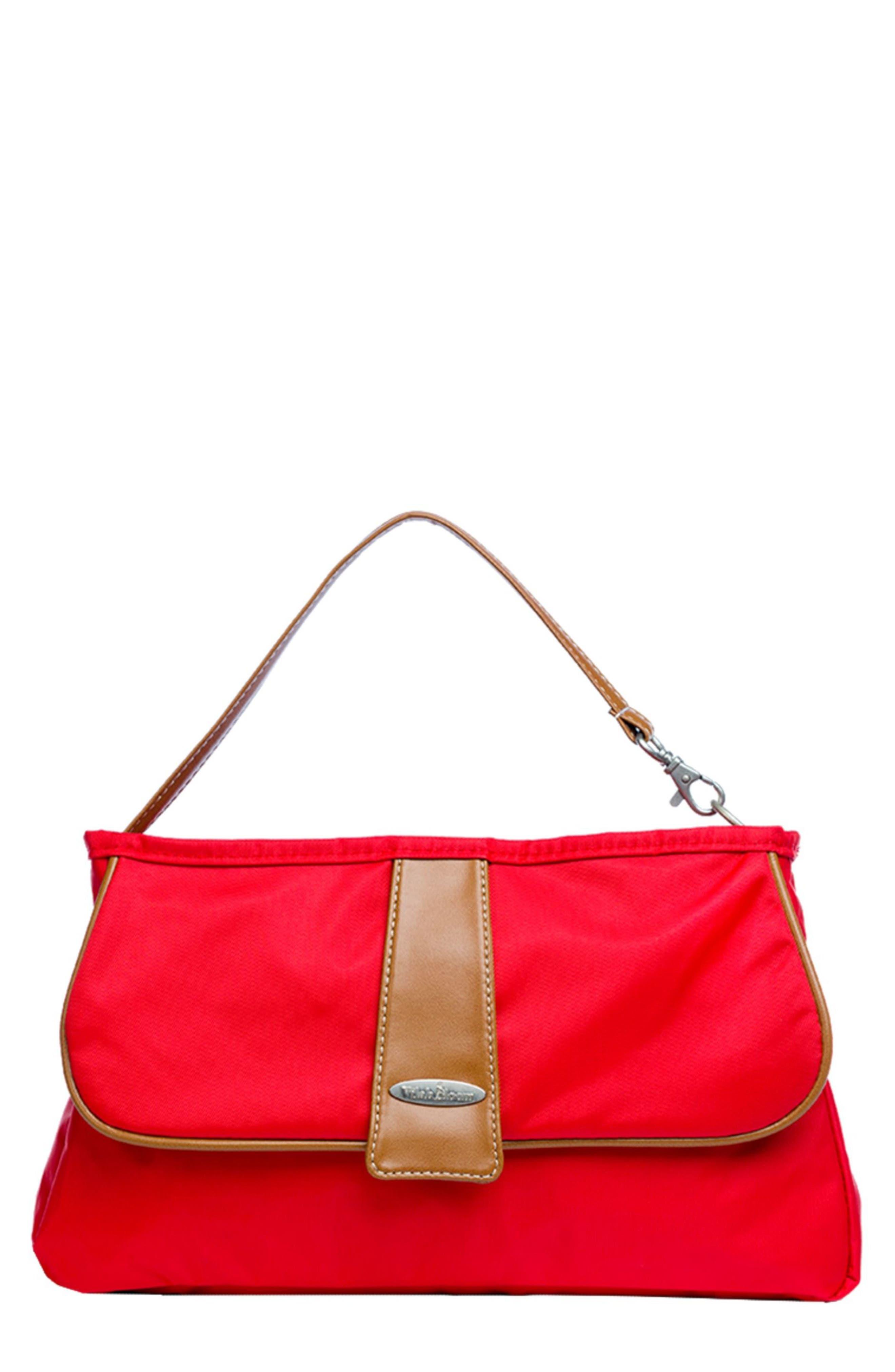 Vilah Boom Cottage Clutch Diaper Bag,                             Main thumbnail 1, color,                             VINEYARD RED