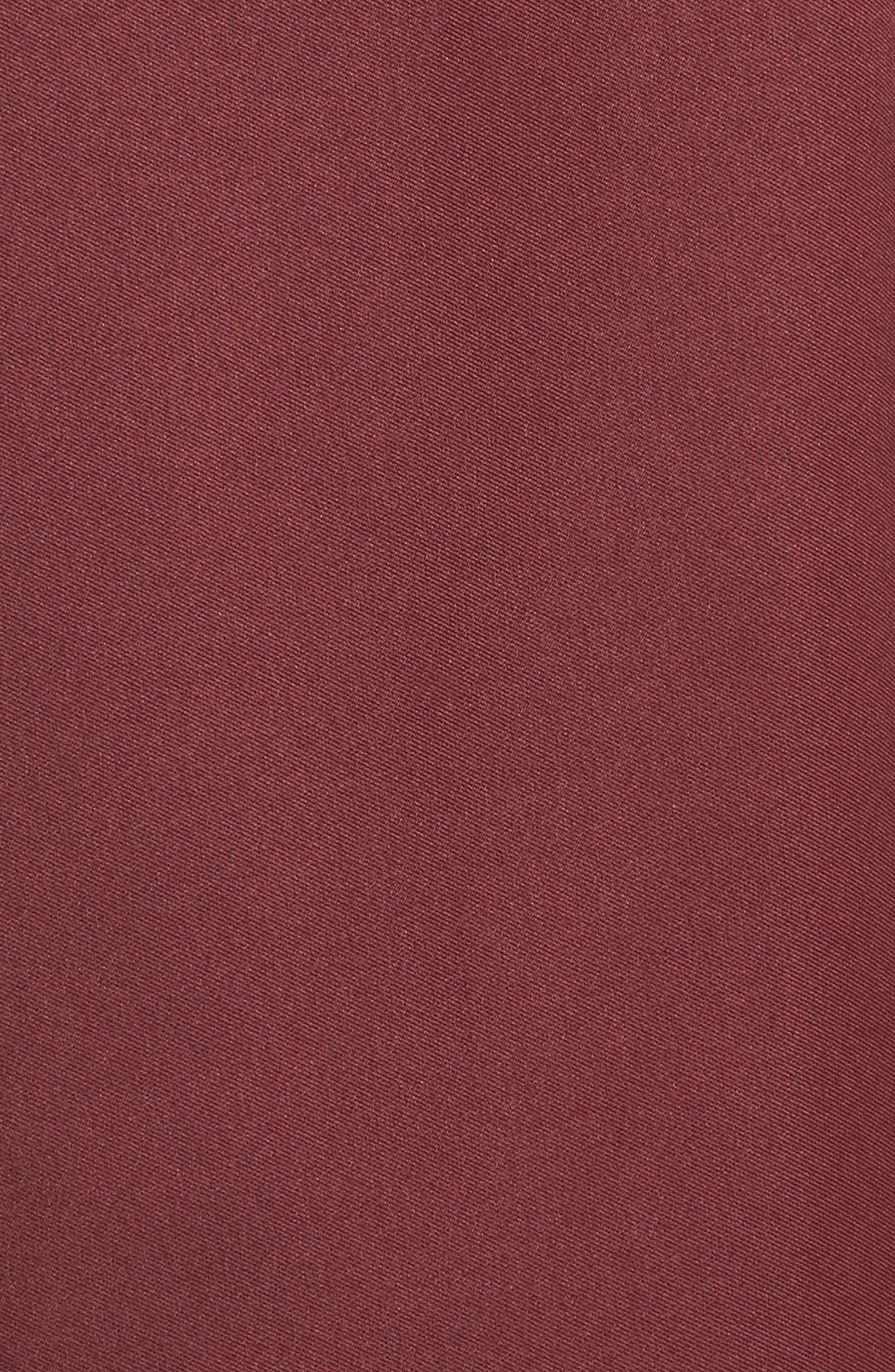 Off the Shoulder Mikado High/Low Gown,                             Alternate thumbnail 6, color,                             BURGUNDY