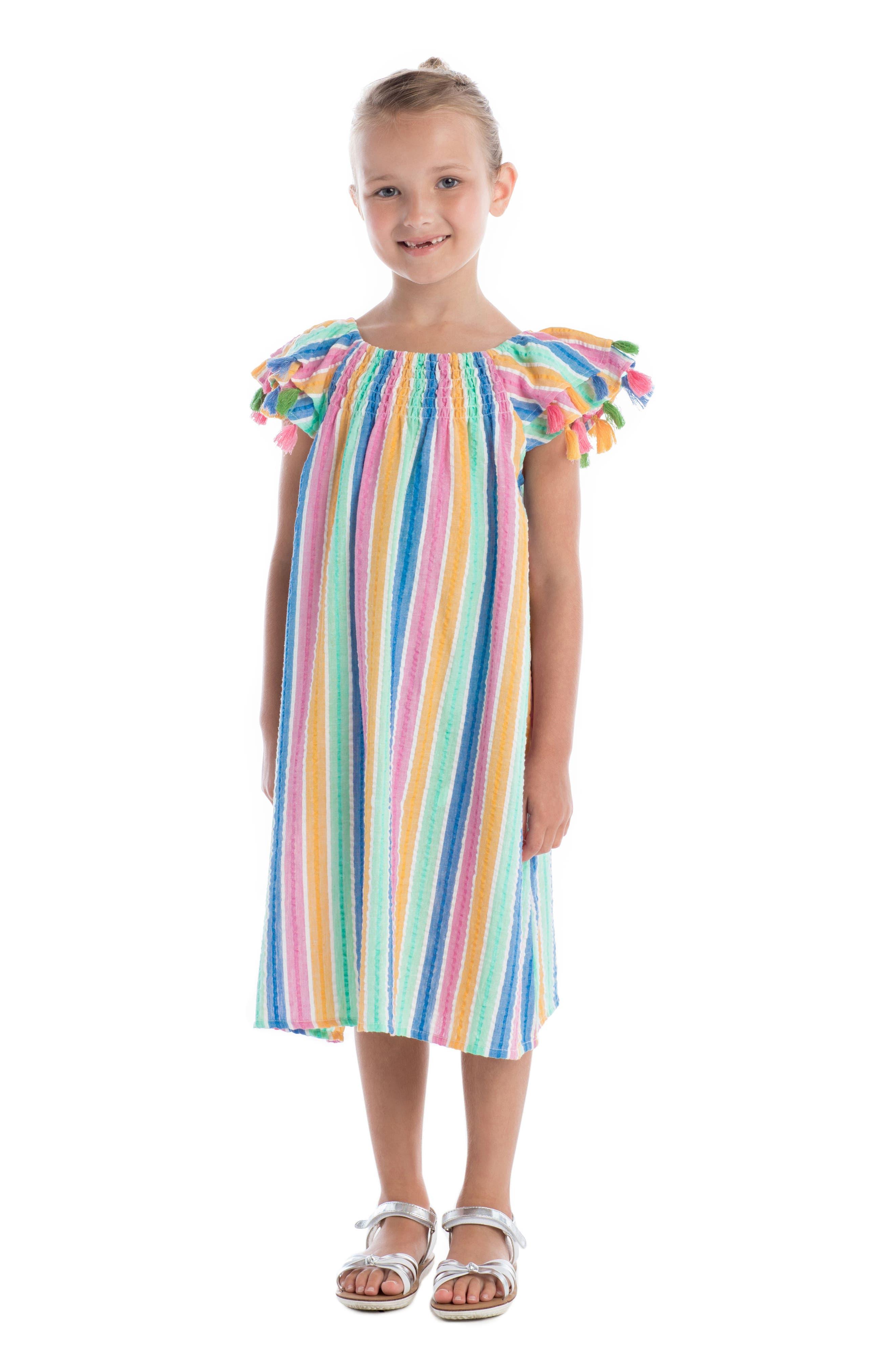 Sundancer Stripe Cotton Dress,                             Alternate thumbnail 2, color,                             400