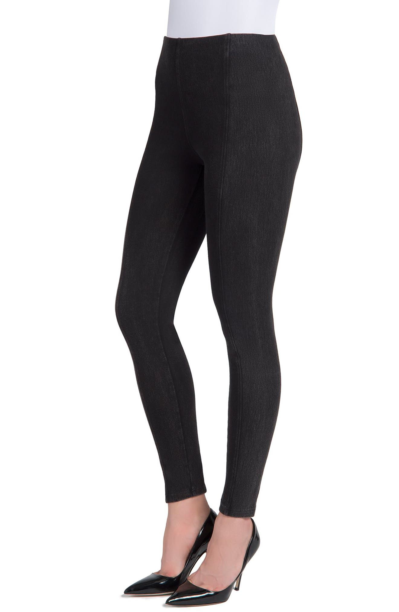 Marley Denim Leggings,                             Alternate thumbnail 5, color,