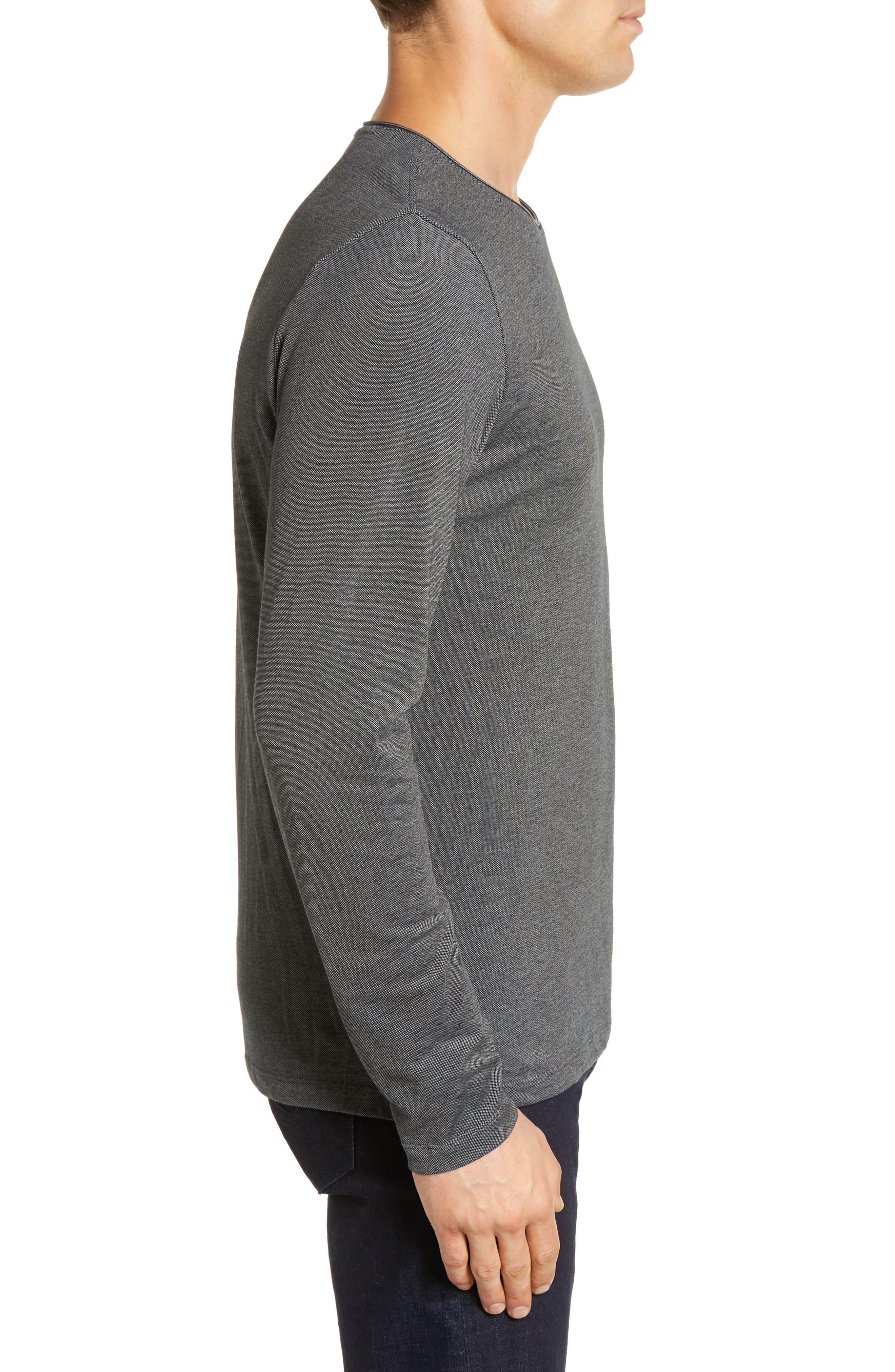 Grand Forks Long Sleeve Piqué T-Shirt,                             Alternate thumbnail 3, color,                             GREY