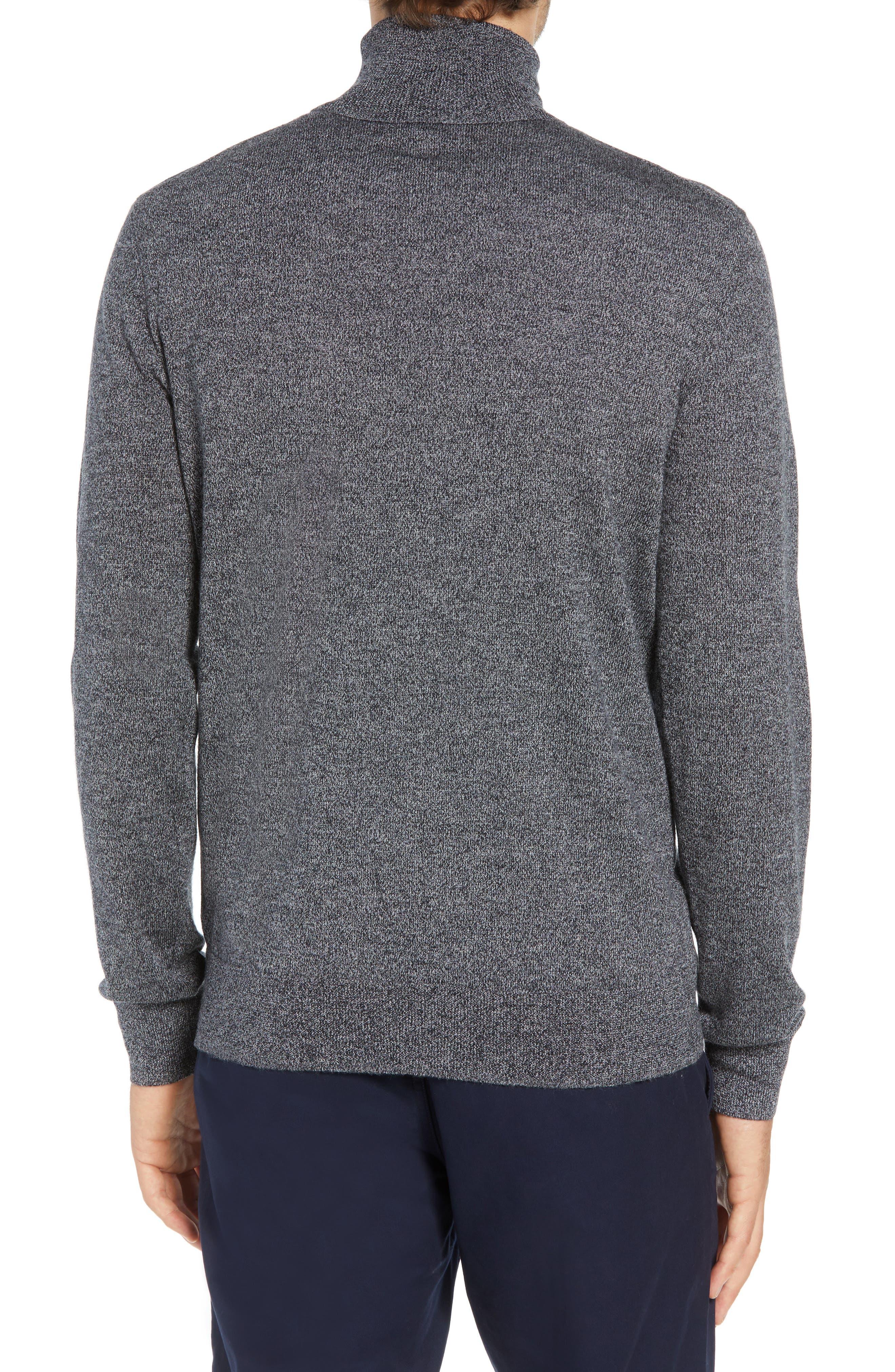 Slim Fit Turtleneck Merino Wool Sweater,                             Alternate thumbnail 2, color,                             CHARCOAL MARL