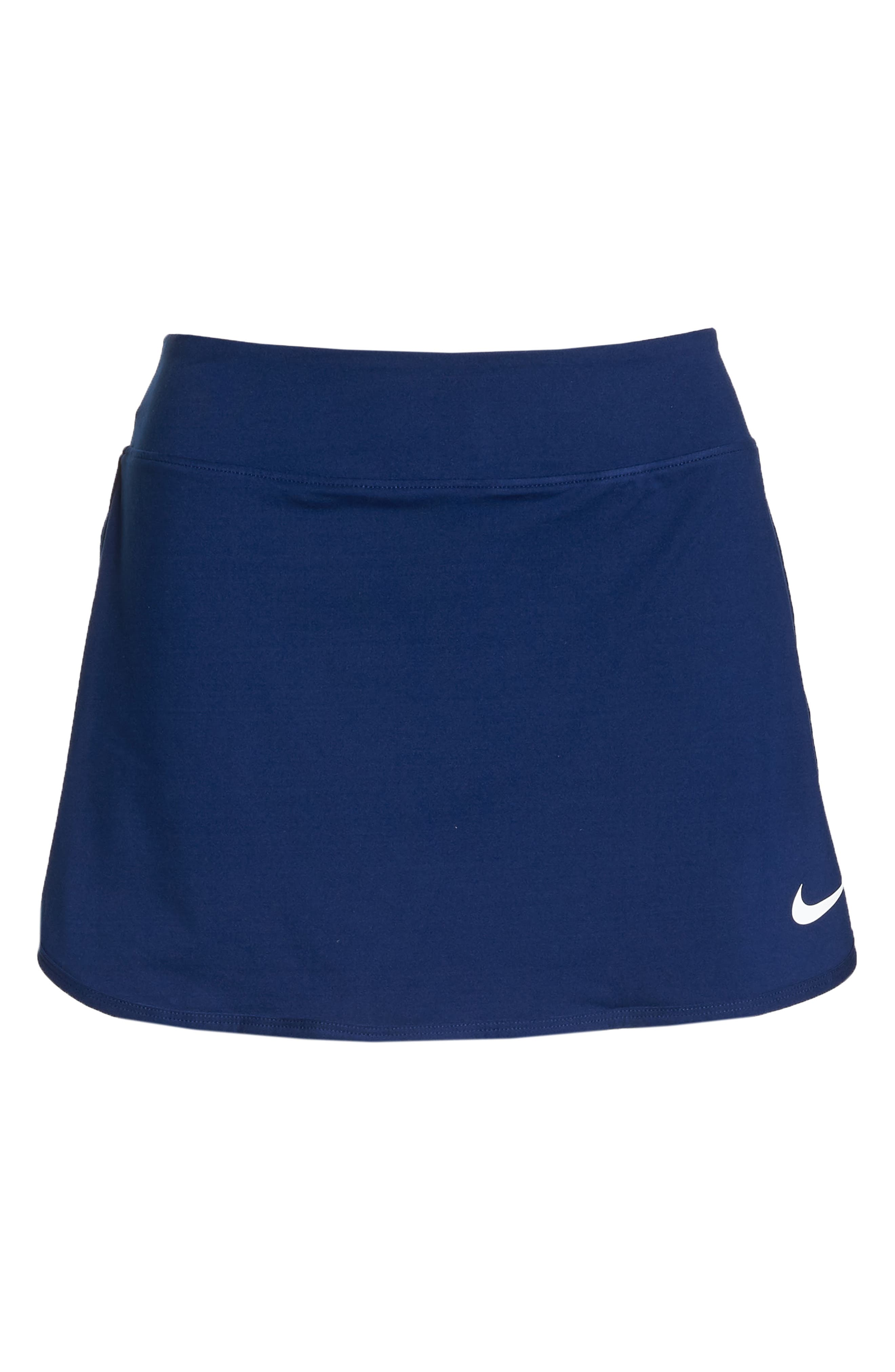 'Pure' Dri-FIT Tennis Skirt,                             Alternate thumbnail 7, color,                             BLUE VOID/ WHITE