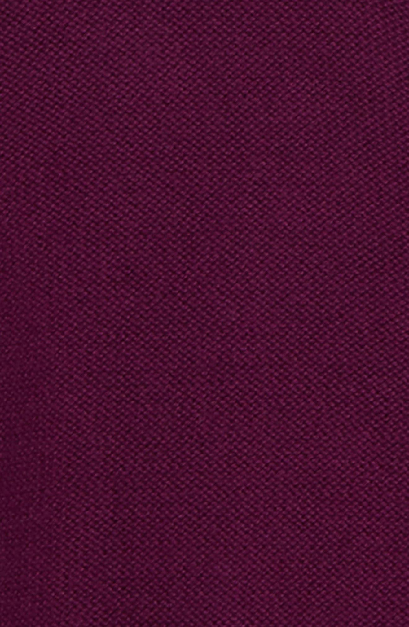 Ruffle Shoulder Cardigan,                             Alternate thumbnail 2, color,                             COSMIC BERRY