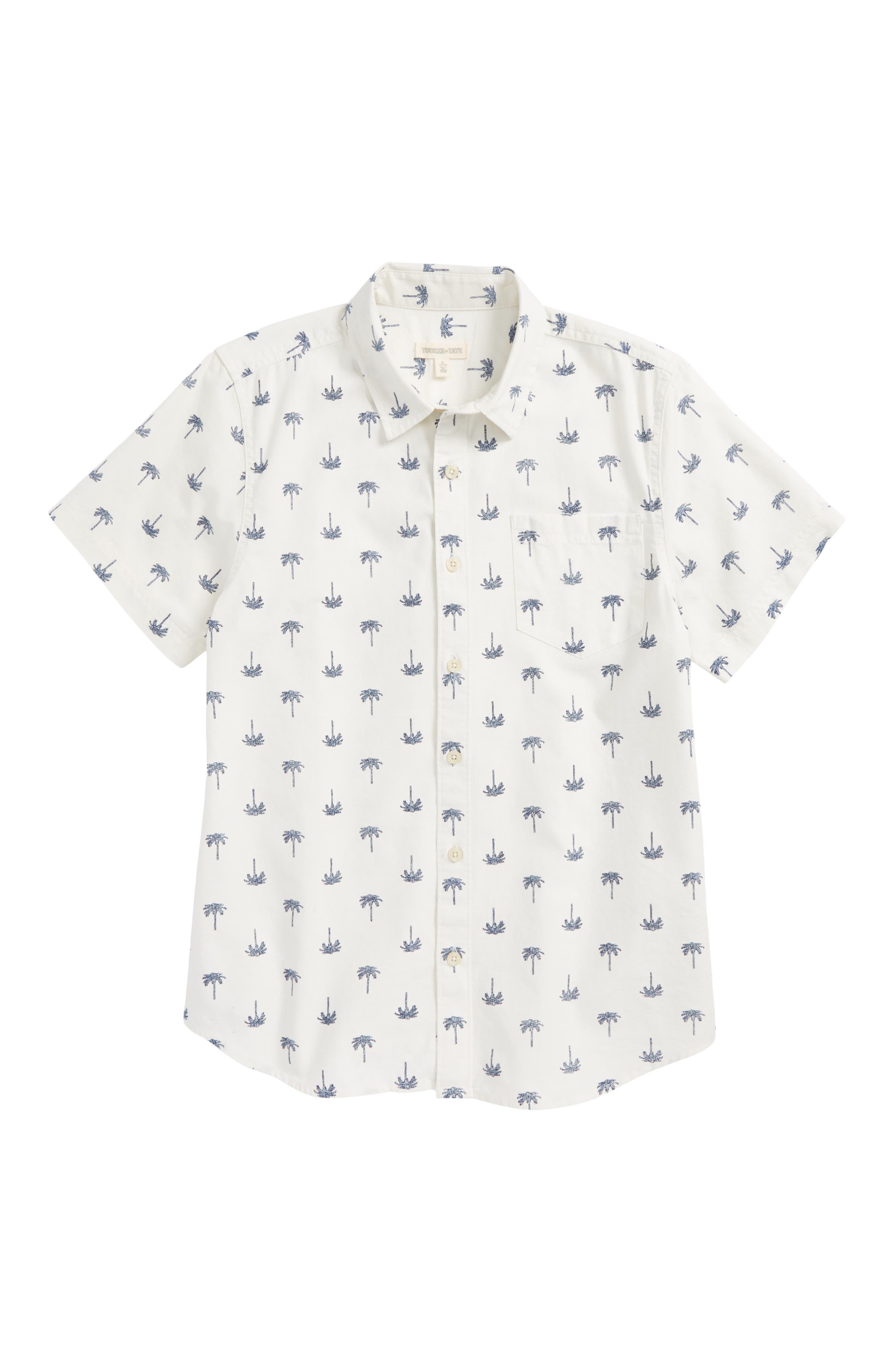 Print Woven Shirt,                             Main thumbnail 4, color,