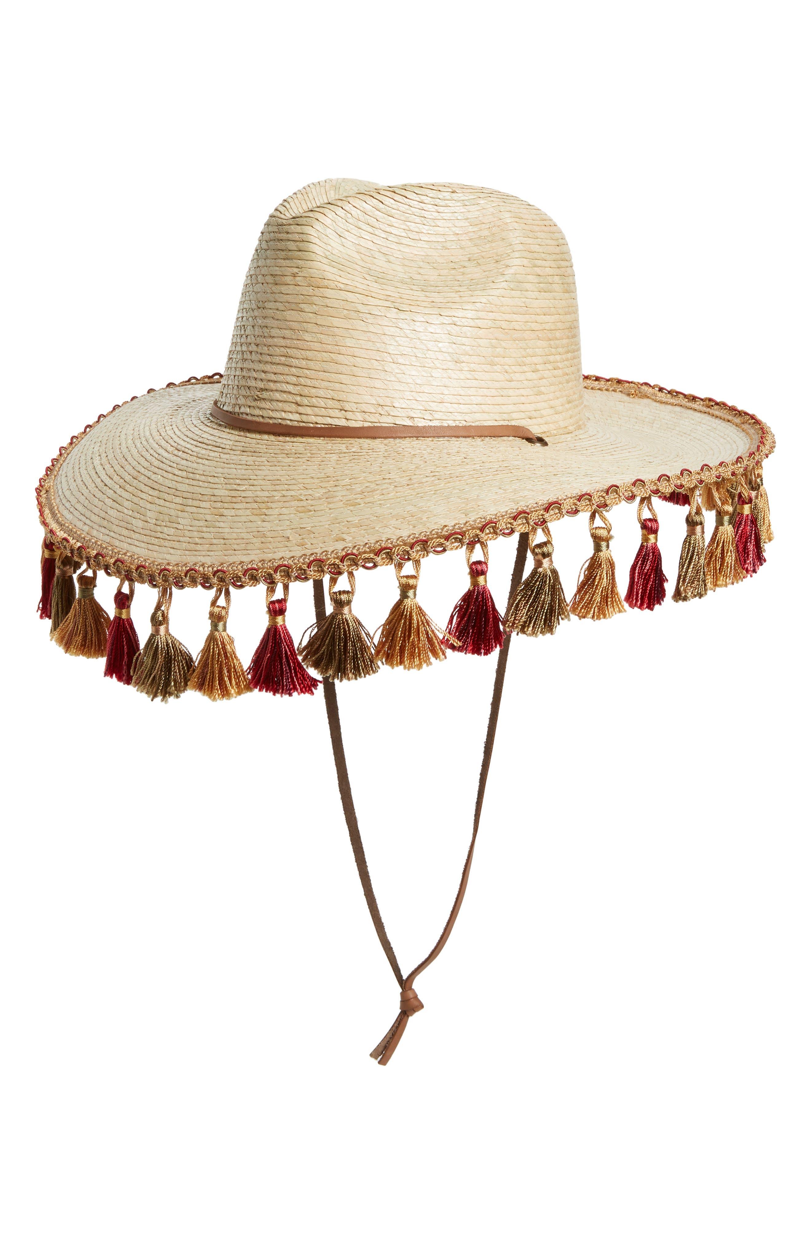 Bells Palm Fedora,                         Main,                         color, NATURAL