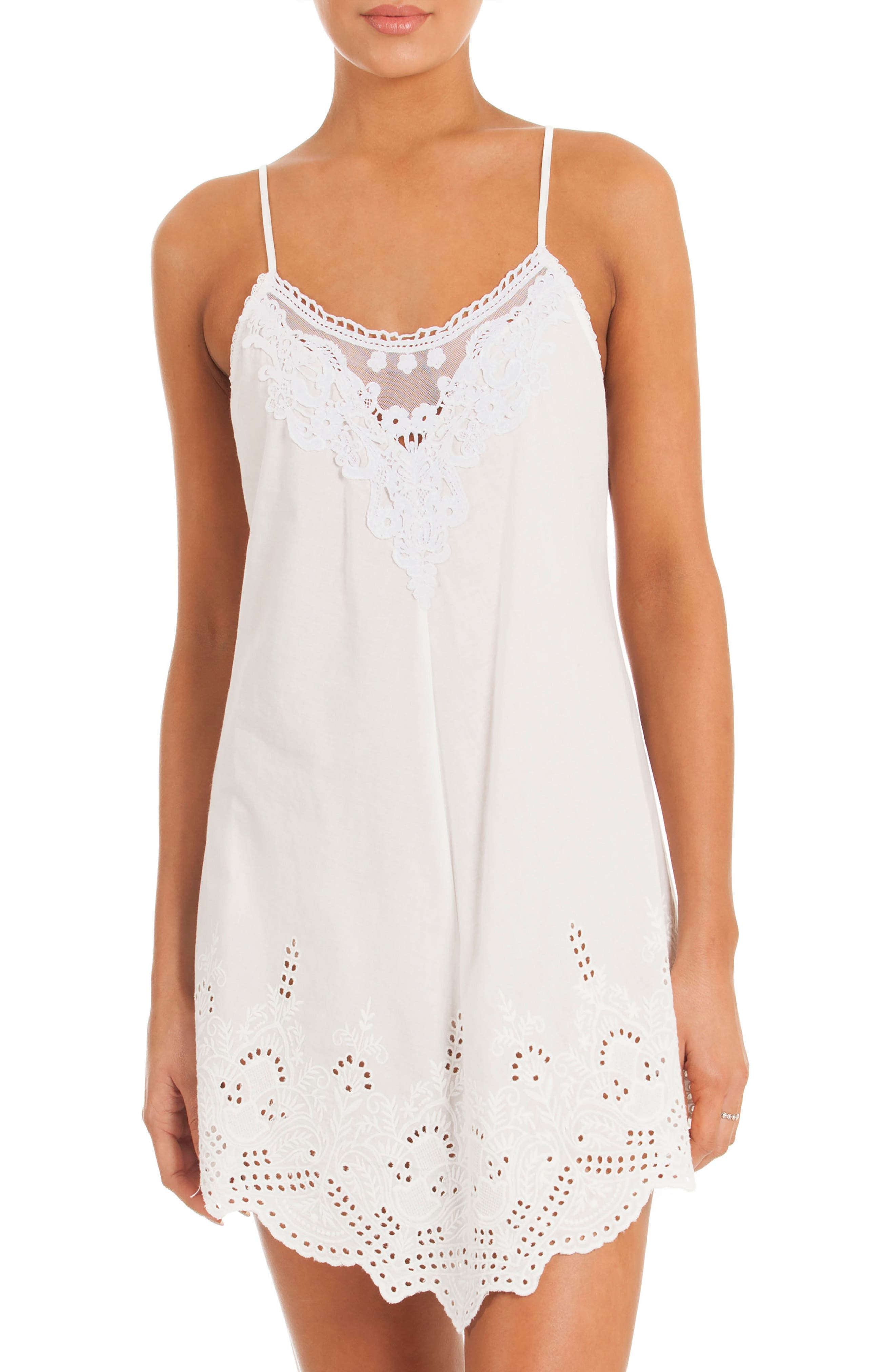 Eyelet Chemise,                         Main,                         color, 100