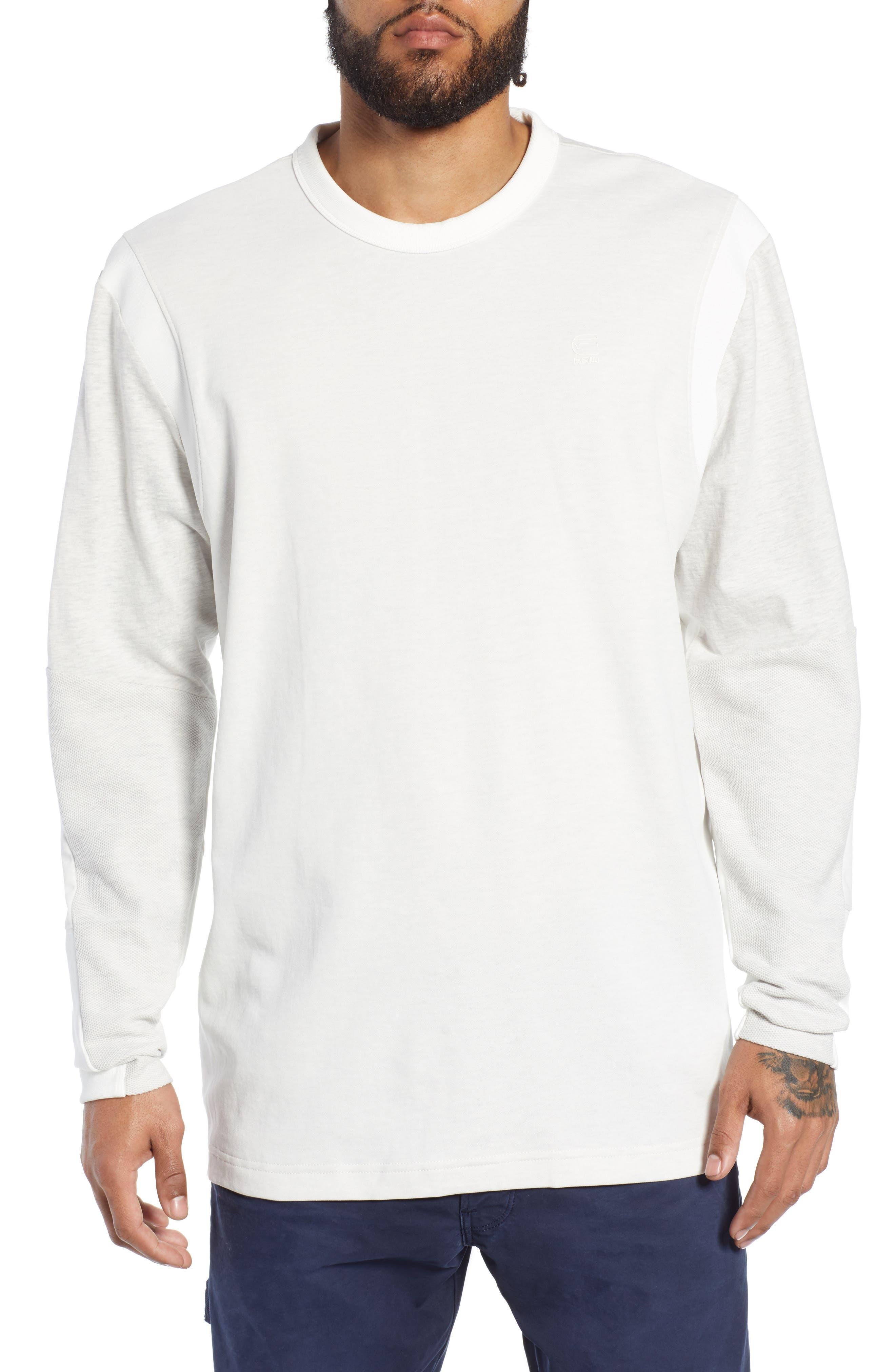 Motac Long Sleeve T-Shirt,                         Main,                         color, WHITE HEATHER