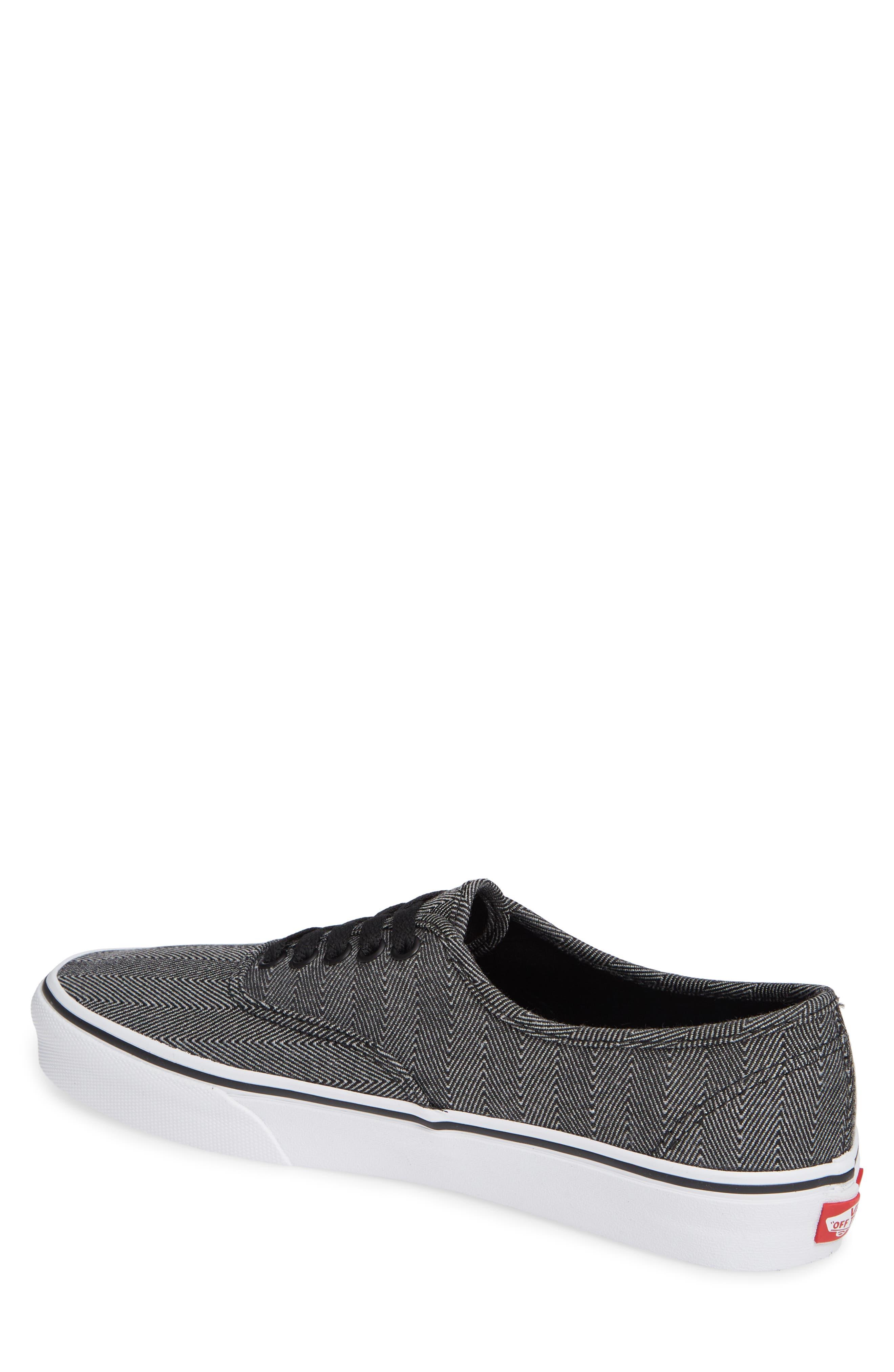 UA Authentic Sneaker,                             Alternate thumbnail 2, color,                             BLACK/ TRUE WHITE