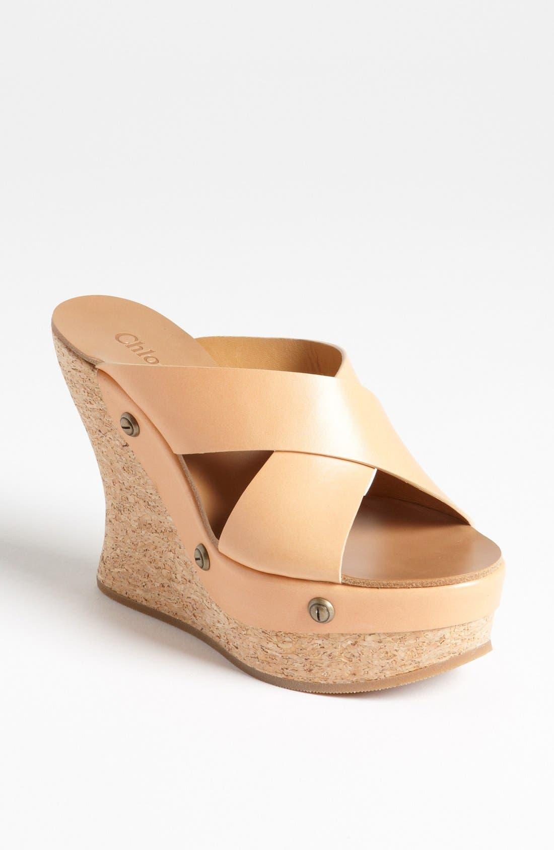 Cork Platform Wedge Sandal,                             Main thumbnail 1, color,                             250