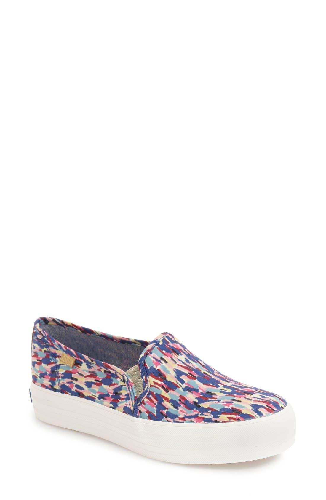 Triple Decker Slip-On Platform Sneaker,                             Main thumbnail 9, color,