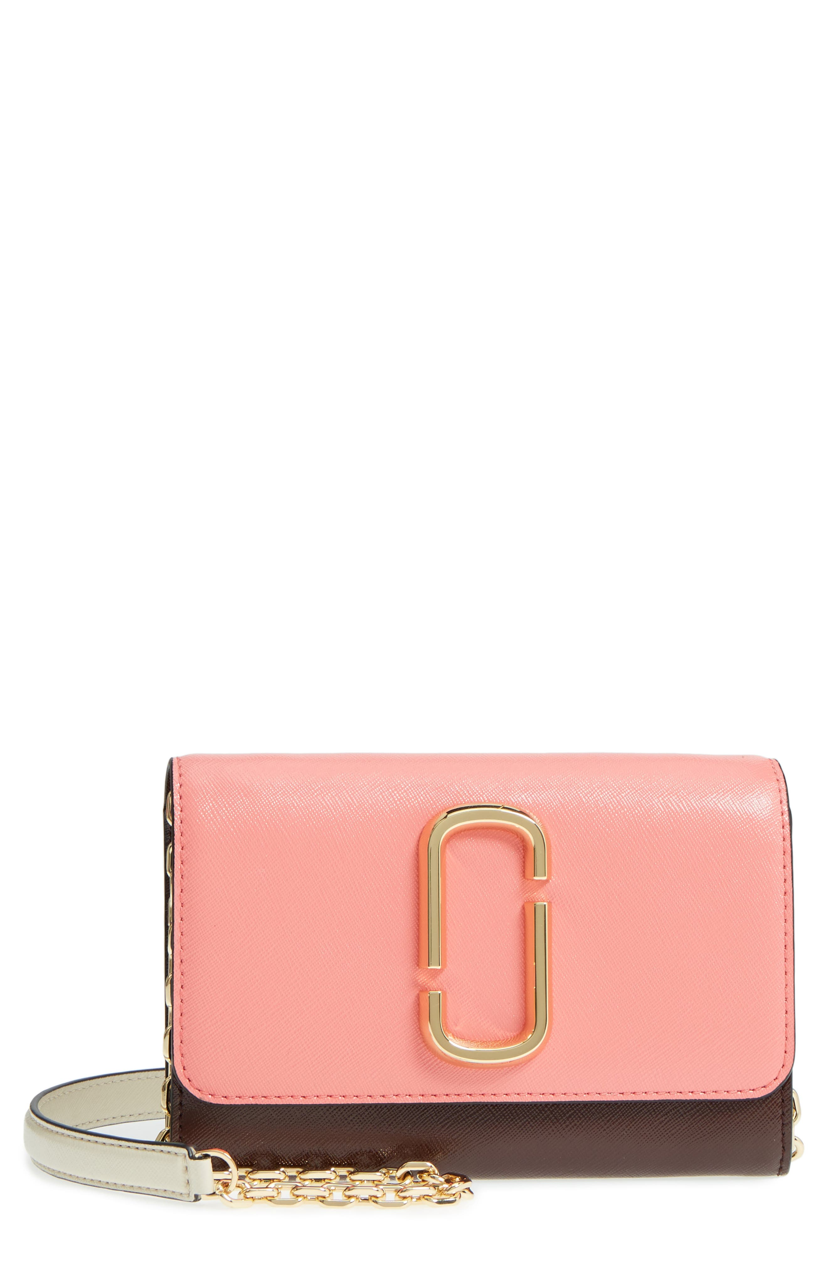 Snapshot Leather Wallet on a Chain,                             Main thumbnail 12, color,