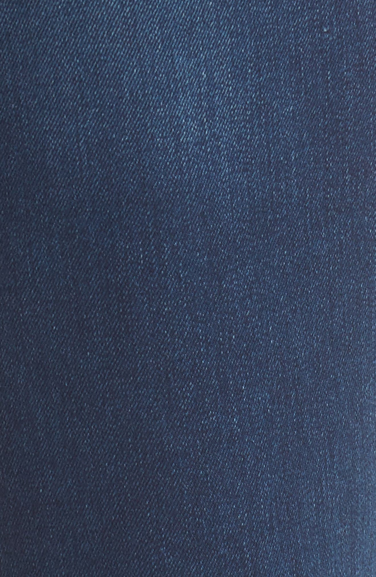 Marilyn Stretch Straight Leg Jeans,                             Alternate thumbnail 5, color,                             SEA BREEZE