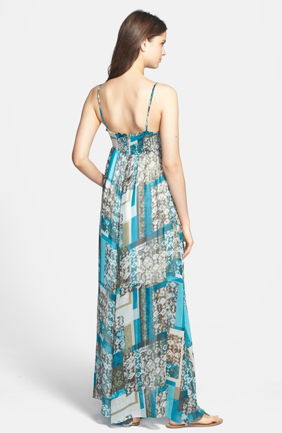 TWO BY VINCE CAMUTO,                             'Bohemian Patchwork' Maxi Dress,                             Alternate thumbnail 3, color,                             440
