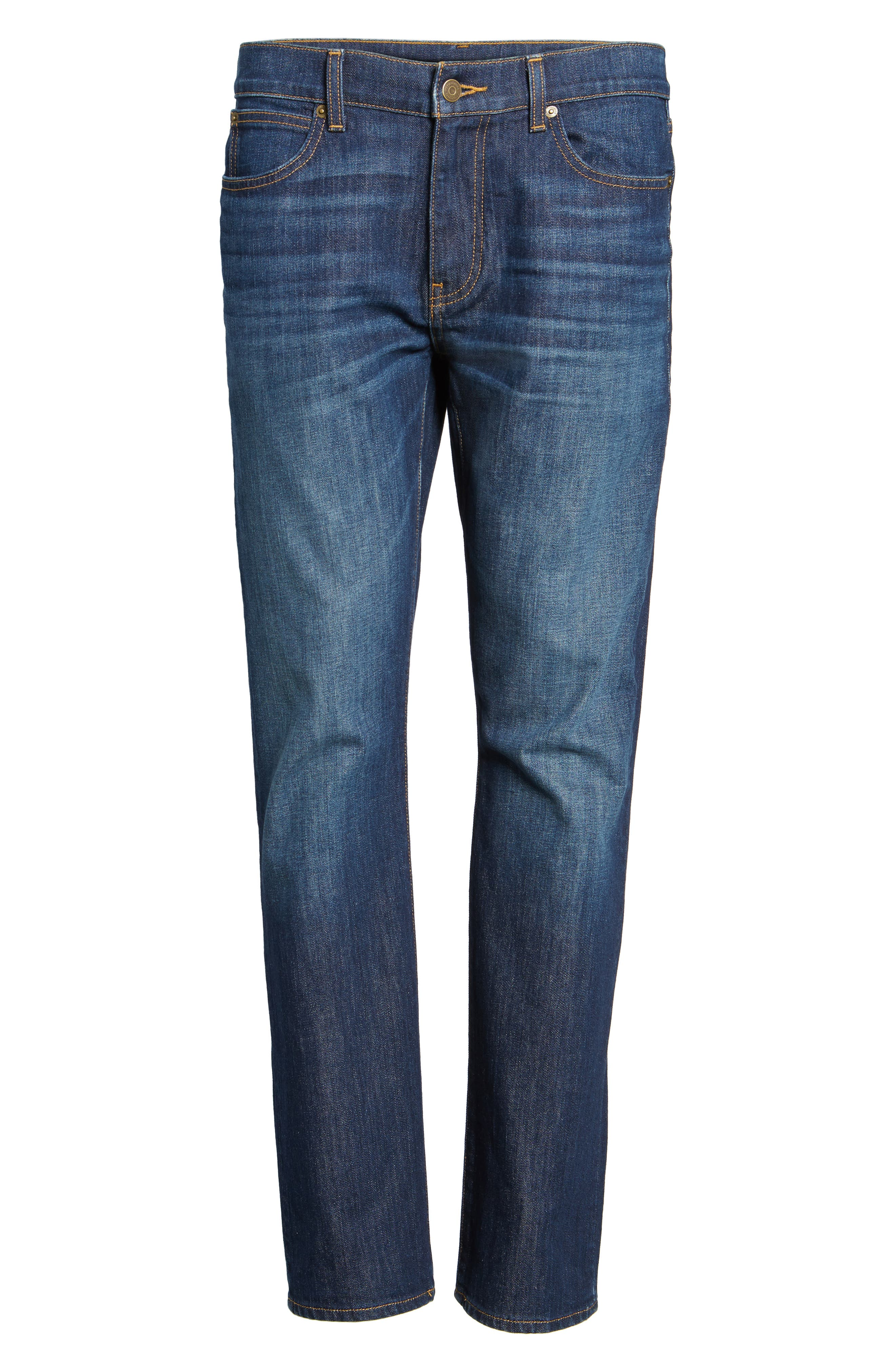 Slim Straight Leg Jeans,                             Alternate thumbnail 6, color,                             496