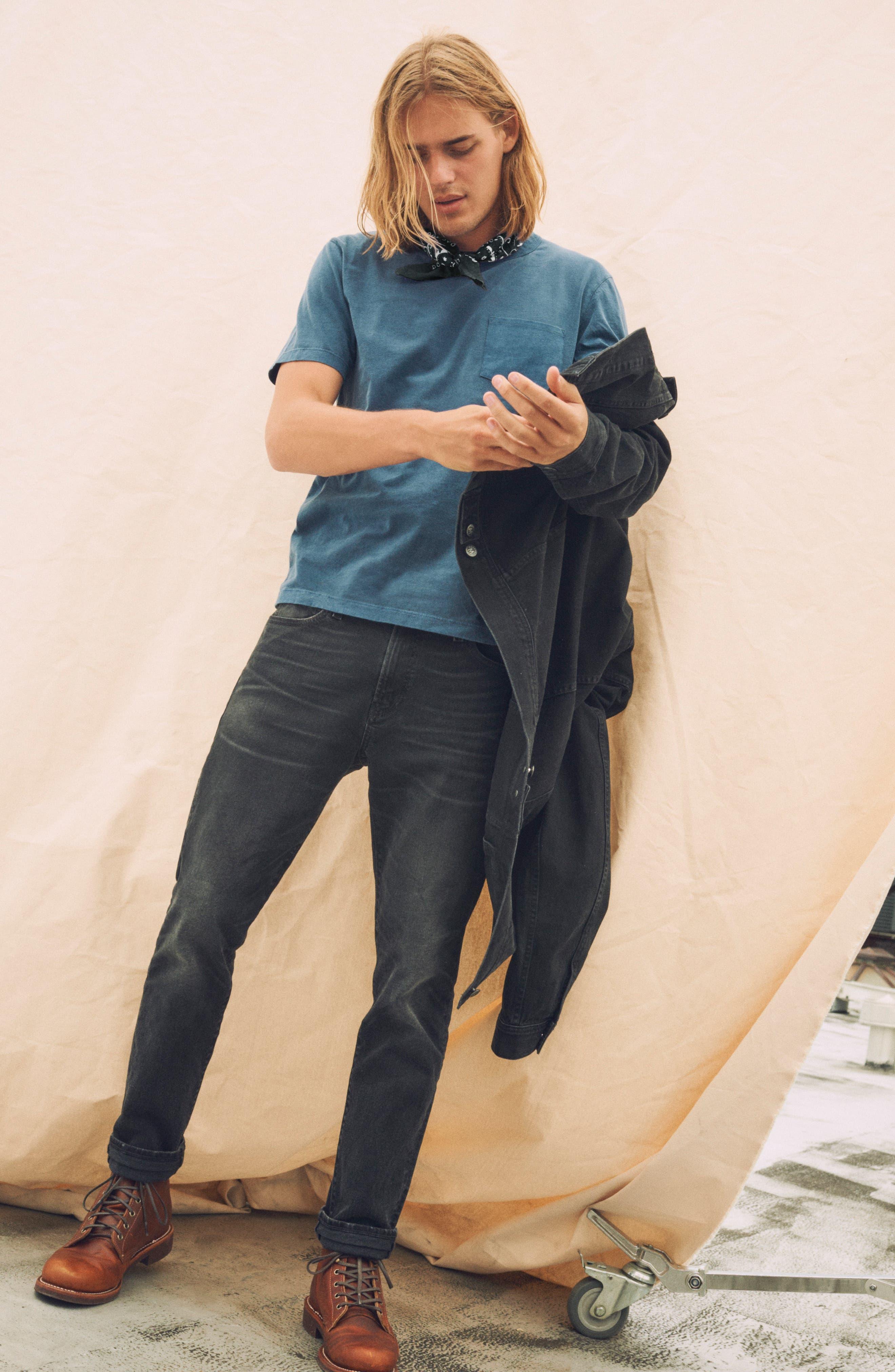 Classic Denim Jacket,                             Alternate thumbnail 10, color,                             BLACK