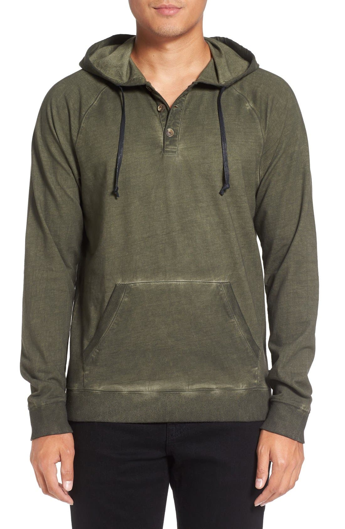 Faded Henley Hoodie,                             Main thumbnail 2, color,