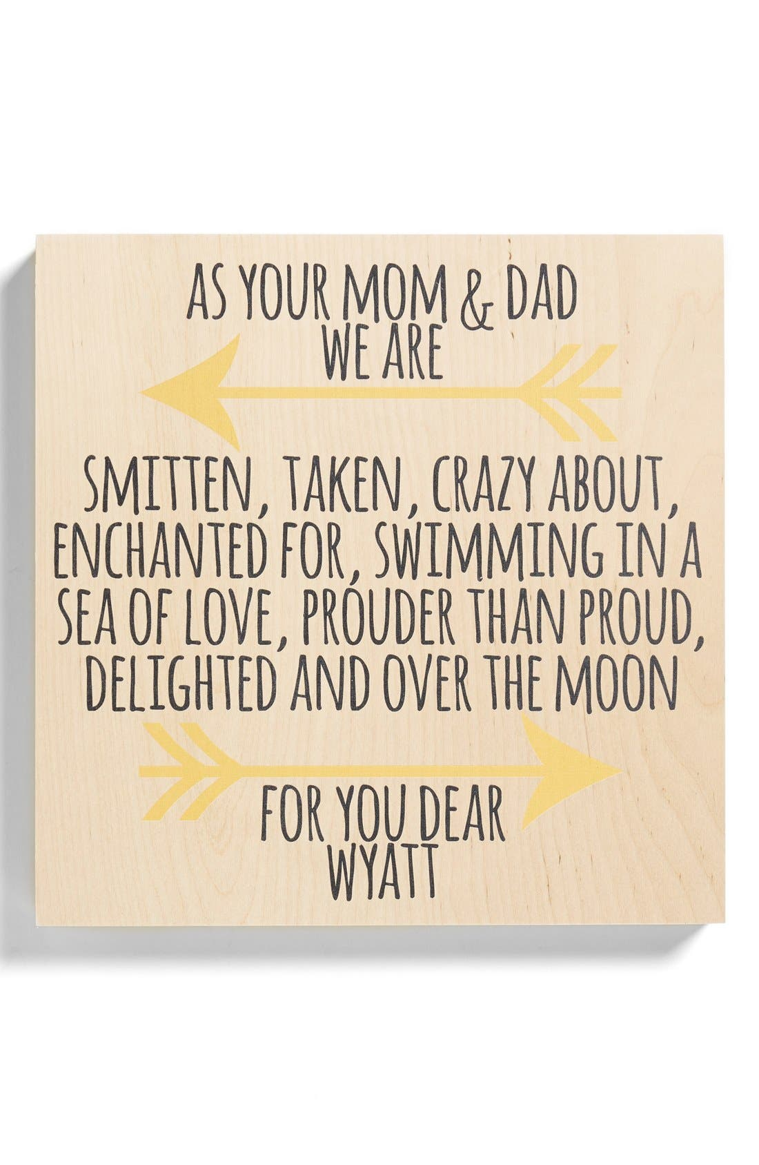 'Parents' Personalized Birchwood Wall Art,                         Main,                         color, 700