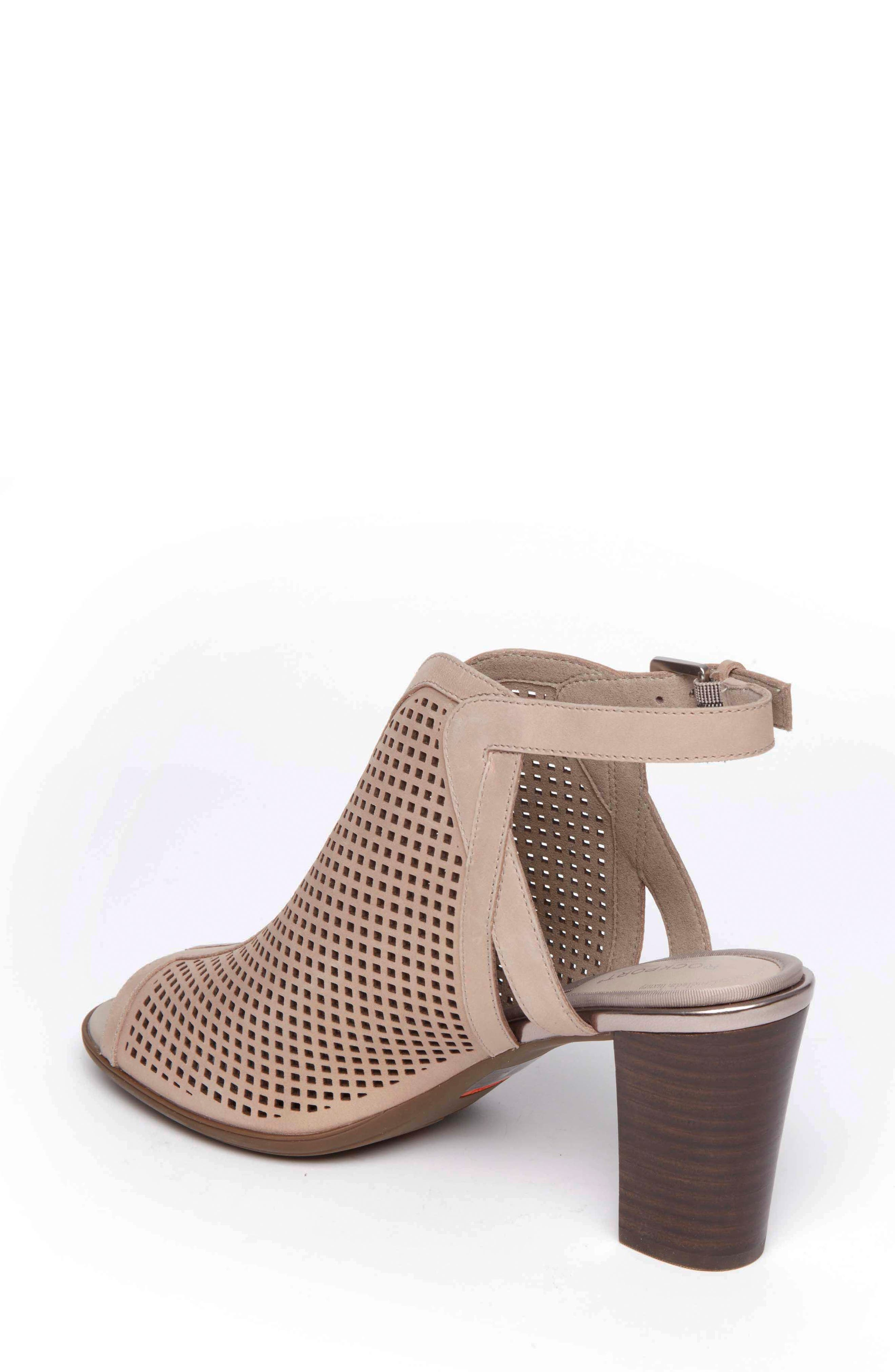 Total Motion Luxe Perforated Sandal,                             Alternate thumbnail 2, color,                             DOVE LEATHER