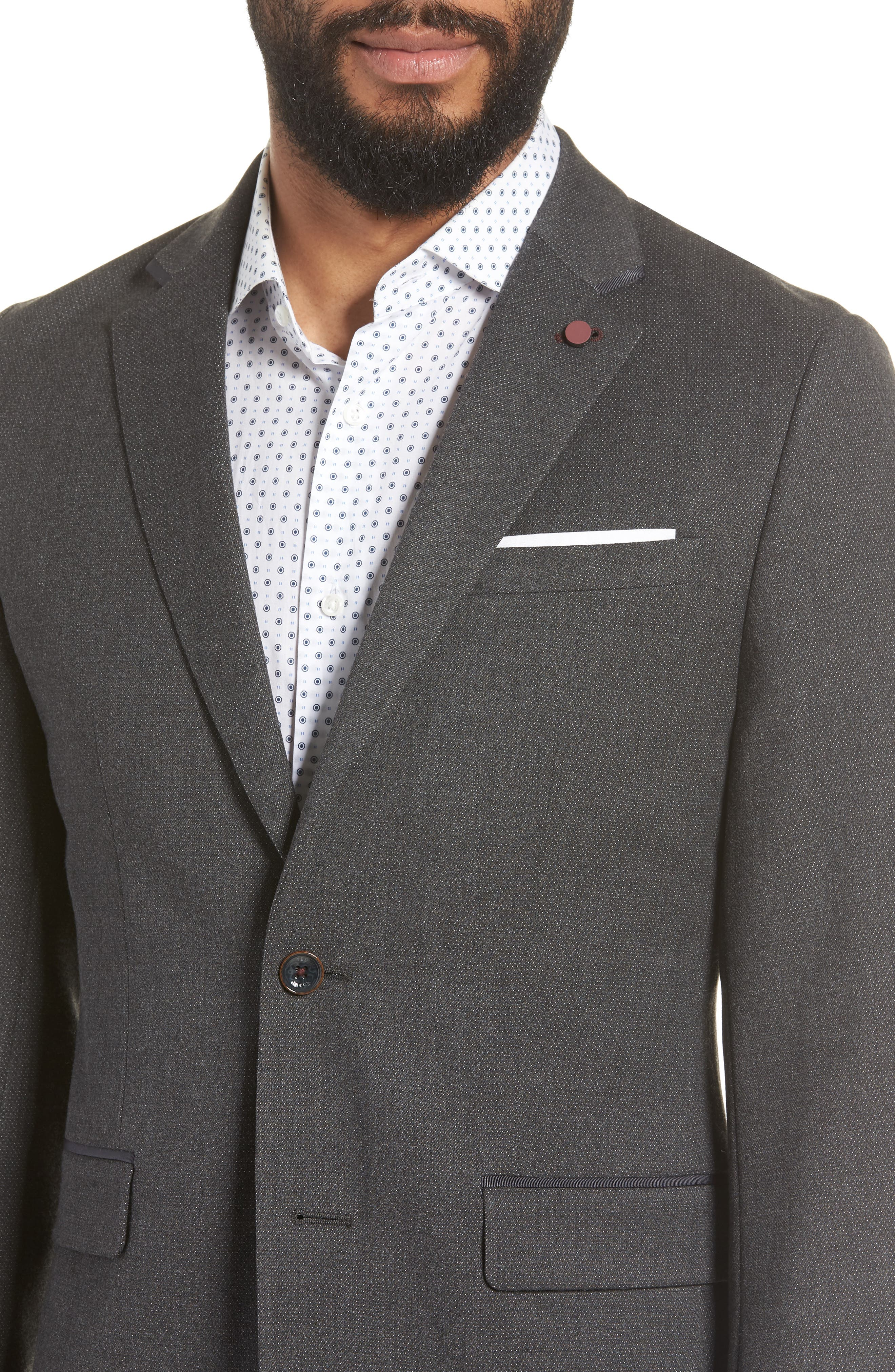Hazlnut Trim Fit Sport Coat,                             Alternate thumbnail 4, color,                             020