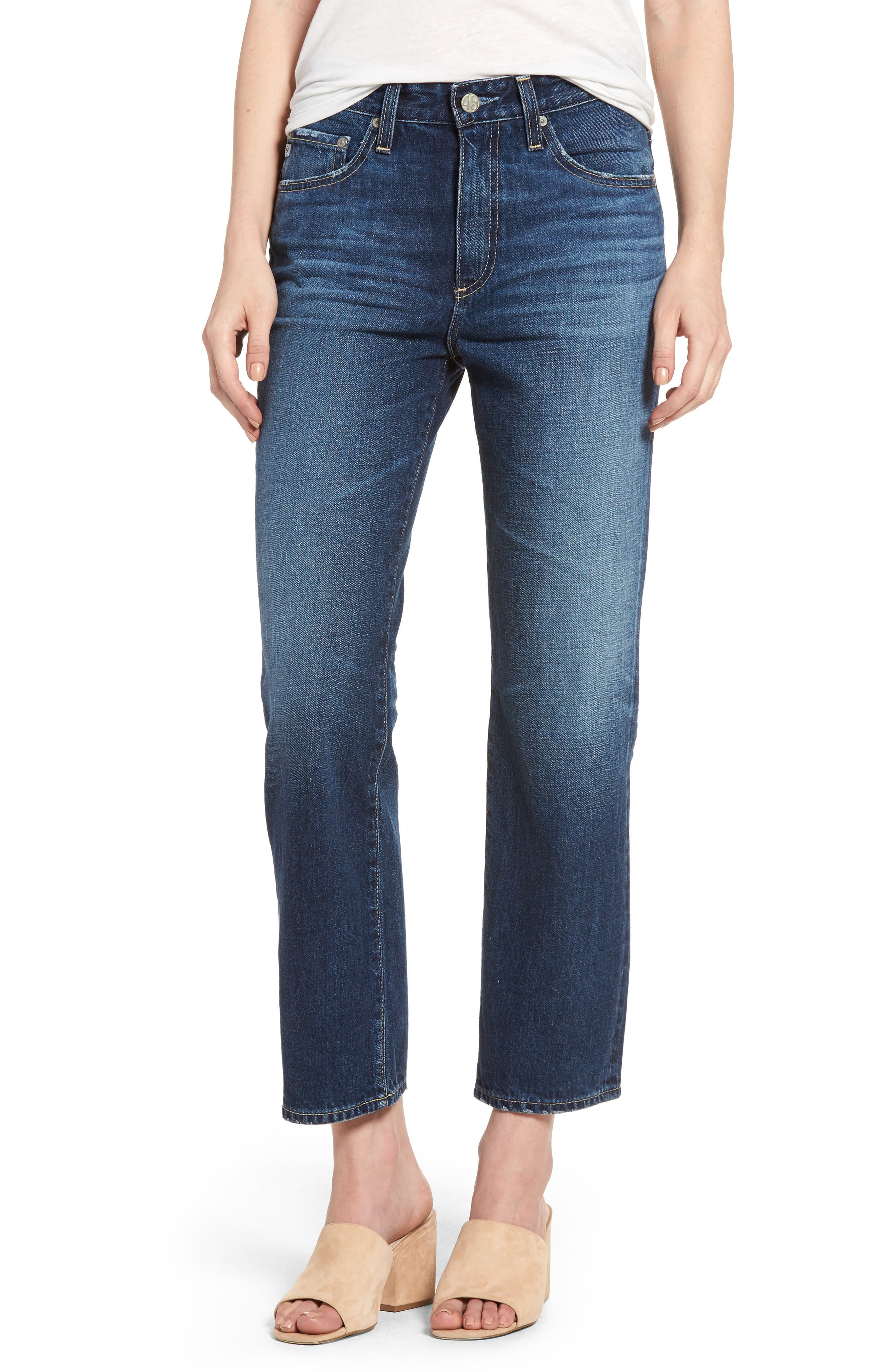 The Rhett Vintage High Waist Crop Jeans,                             Main thumbnail 1, color,                             415