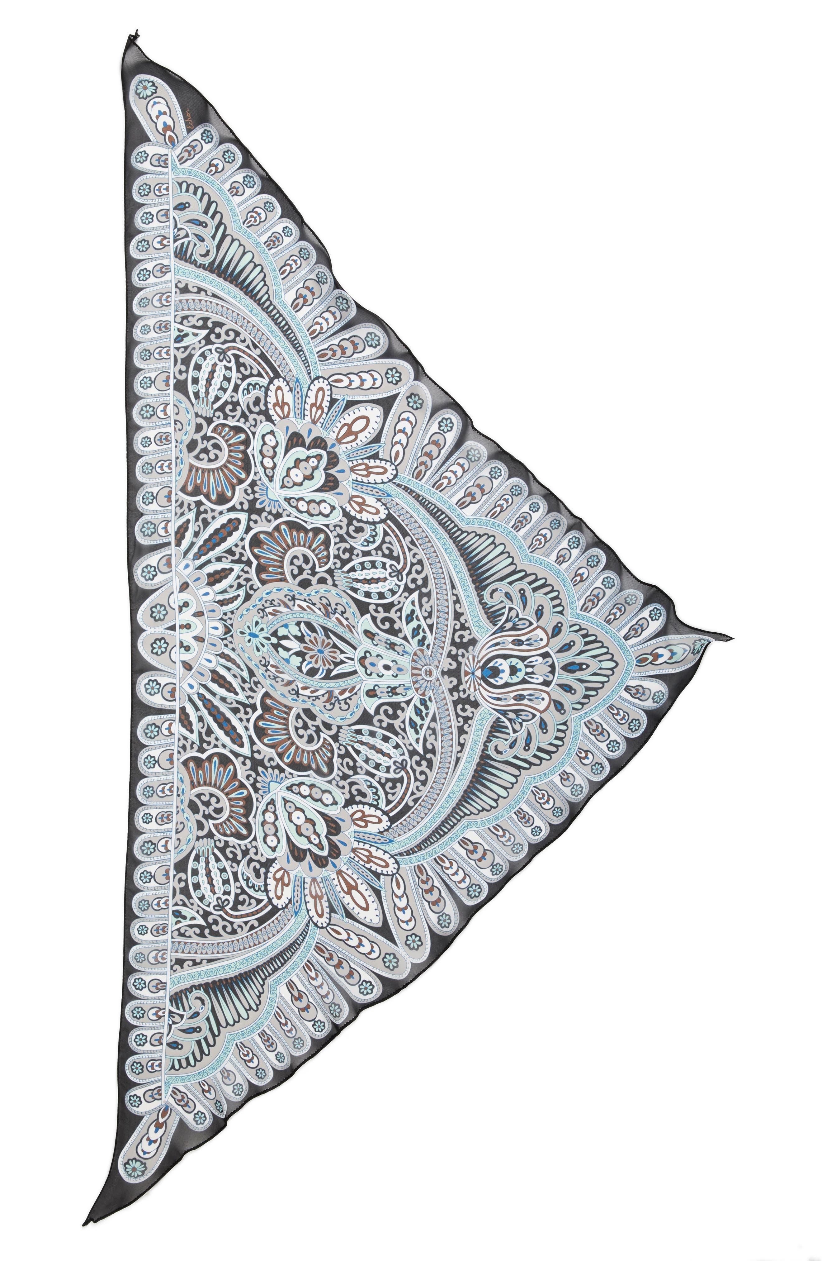 Baracoa Silk Triangle Scarf,                             Alternate thumbnail 7, color,