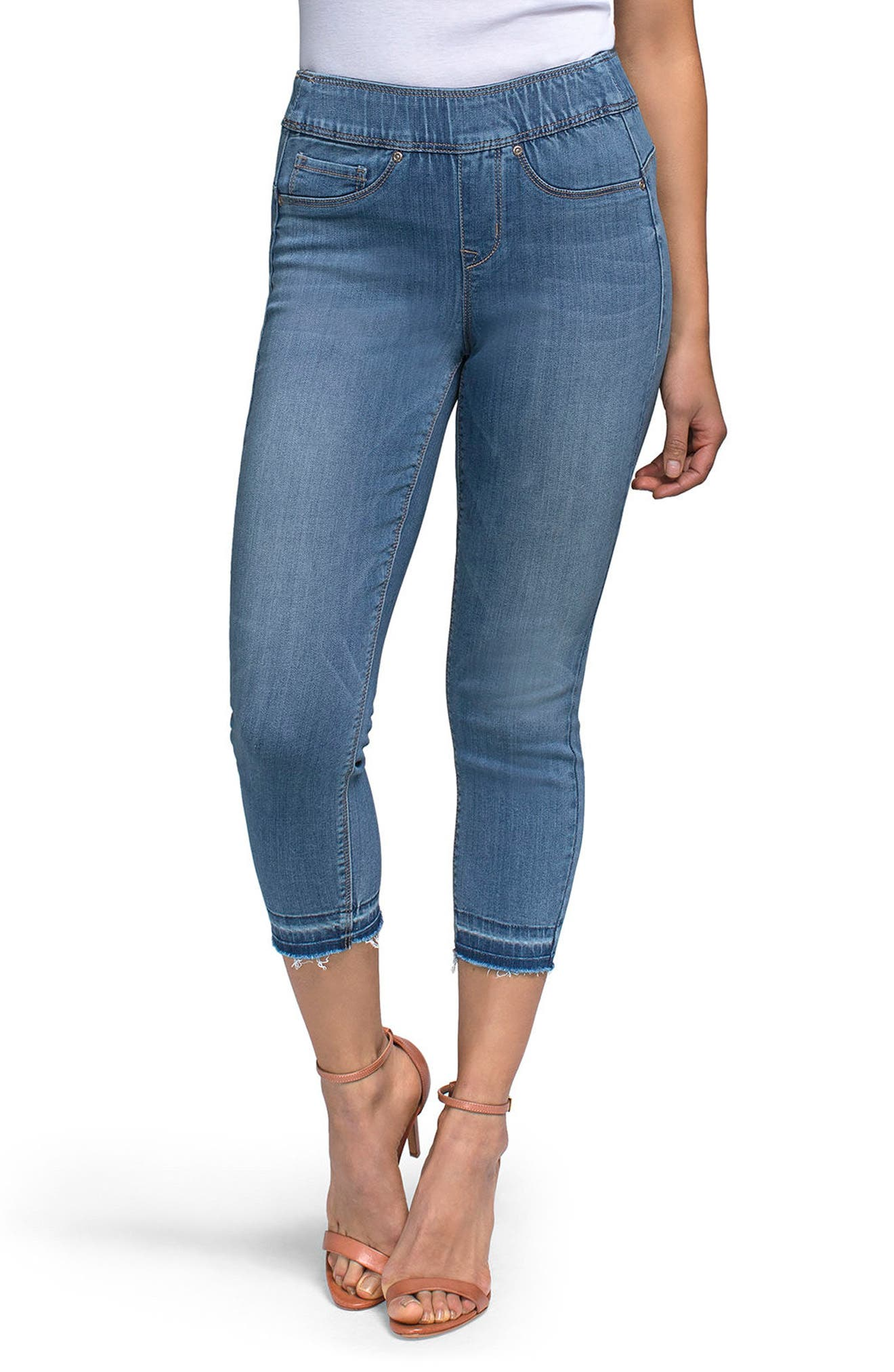 CURVES 360 BY NYDJ,                             NYDJ Release Hem Pull-On Crop Skinny Jeans,                             Main thumbnail 1, color,                             406