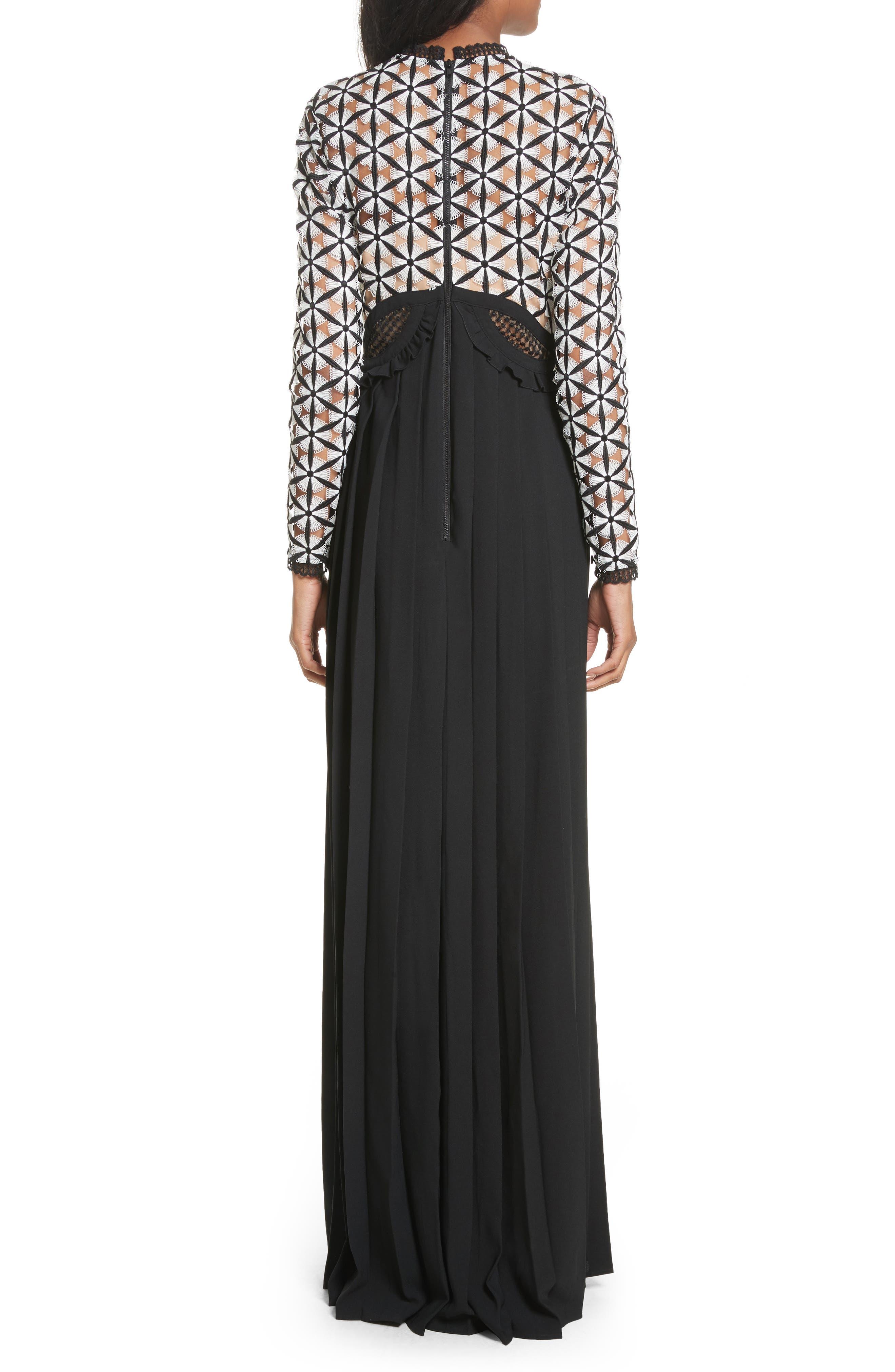 Guipure Lace Maxi Dress,                             Alternate thumbnail 2, color,