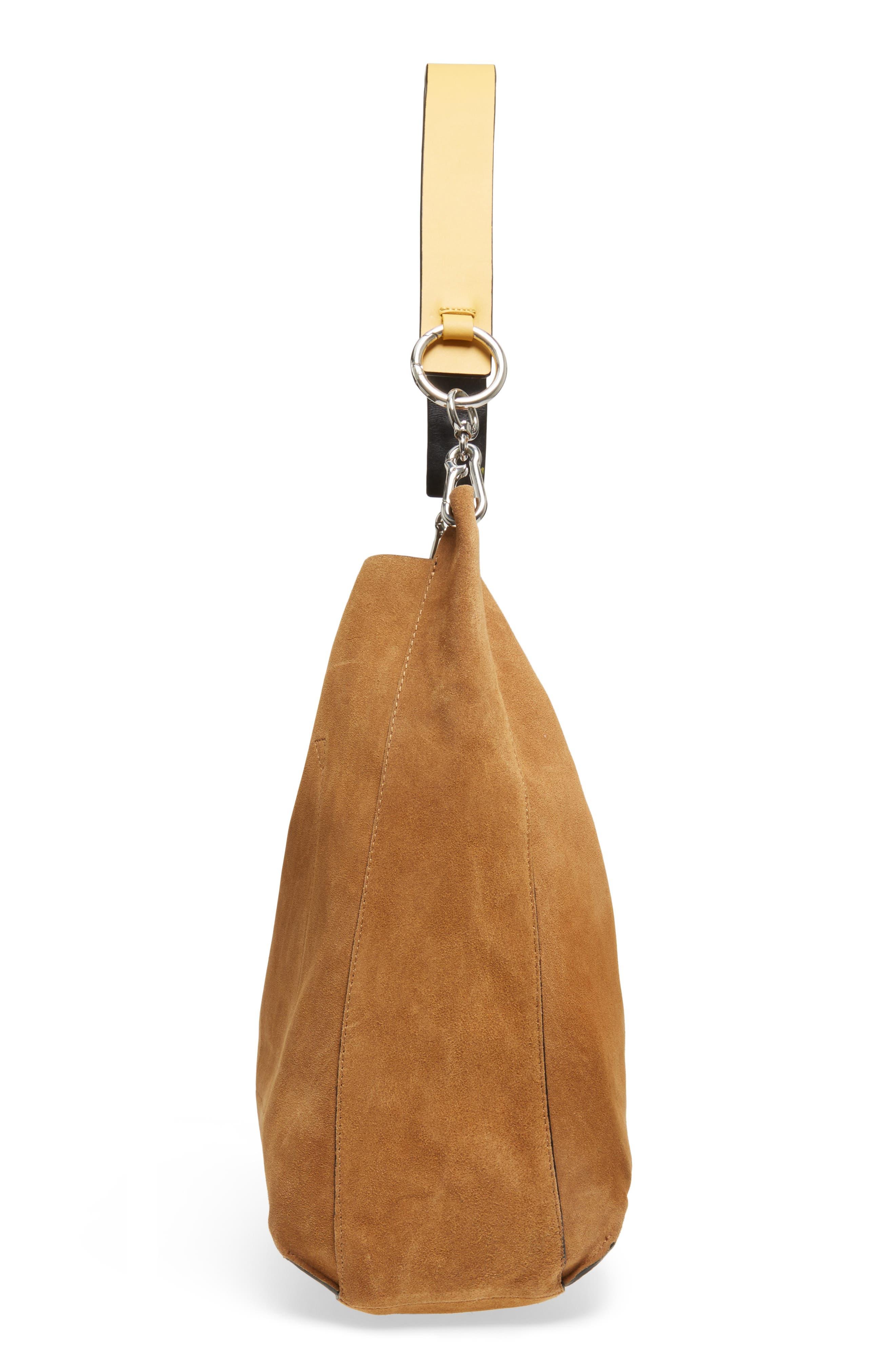 Asymmetric Suede Hobo Bag,                             Alternate thumbnail 10, color,