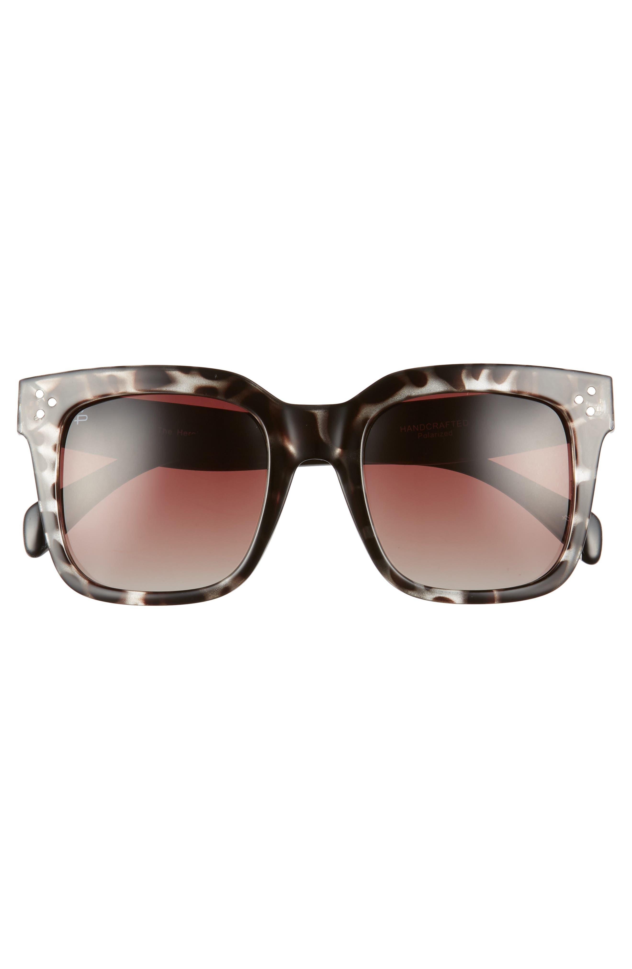 The Heroine 53mm Sunglasses,                             Alternate thumbnail 3, color,                             200