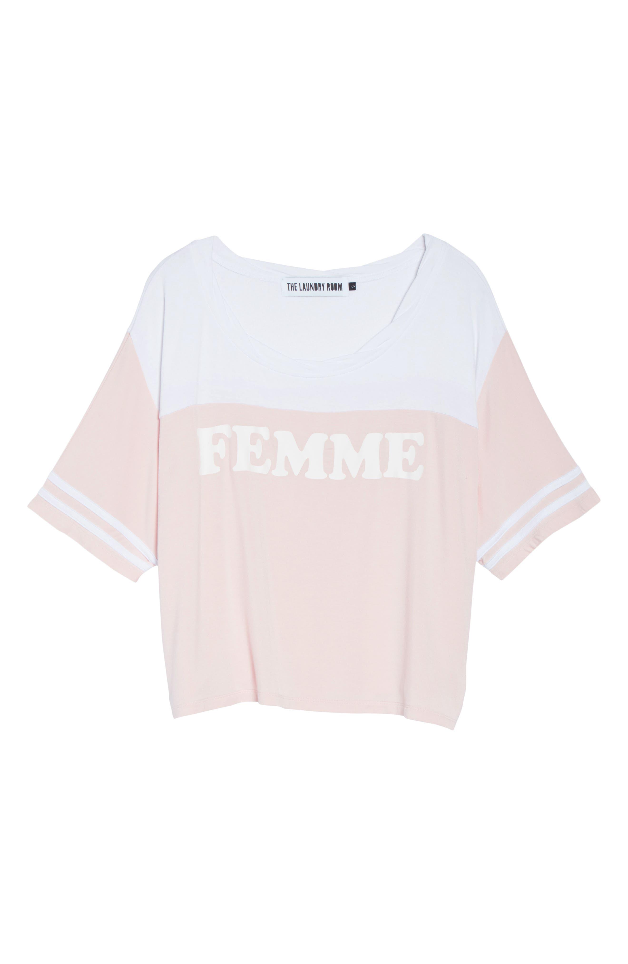 Team Femme Baggy Tee,                             Alternate thumbnail 6, color,                             693