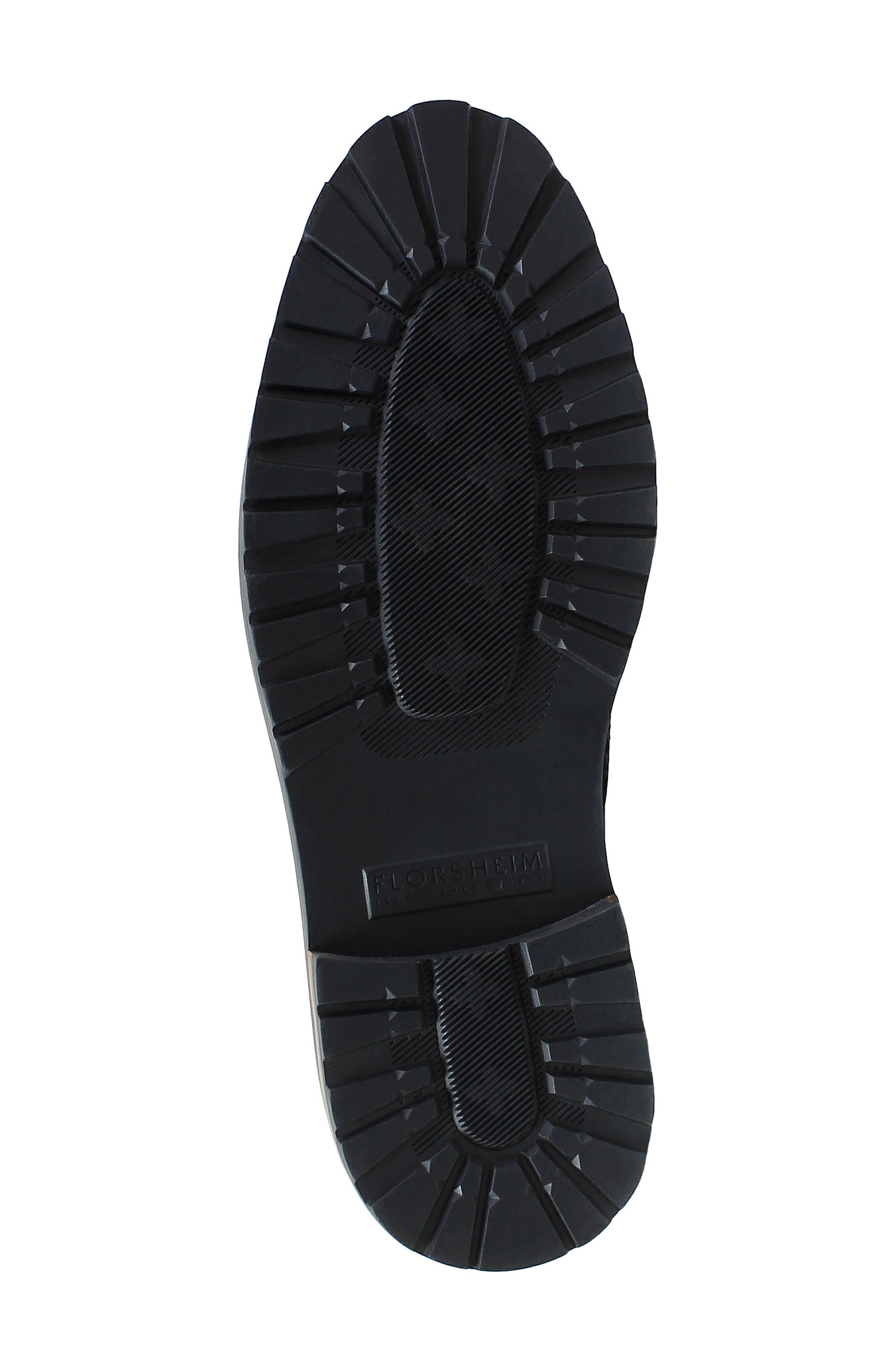 FLORSHEIM,                             Estabrook Cap Toe Boot,                             Alternate thumbnail 6, color,                             BLACK LEATHER