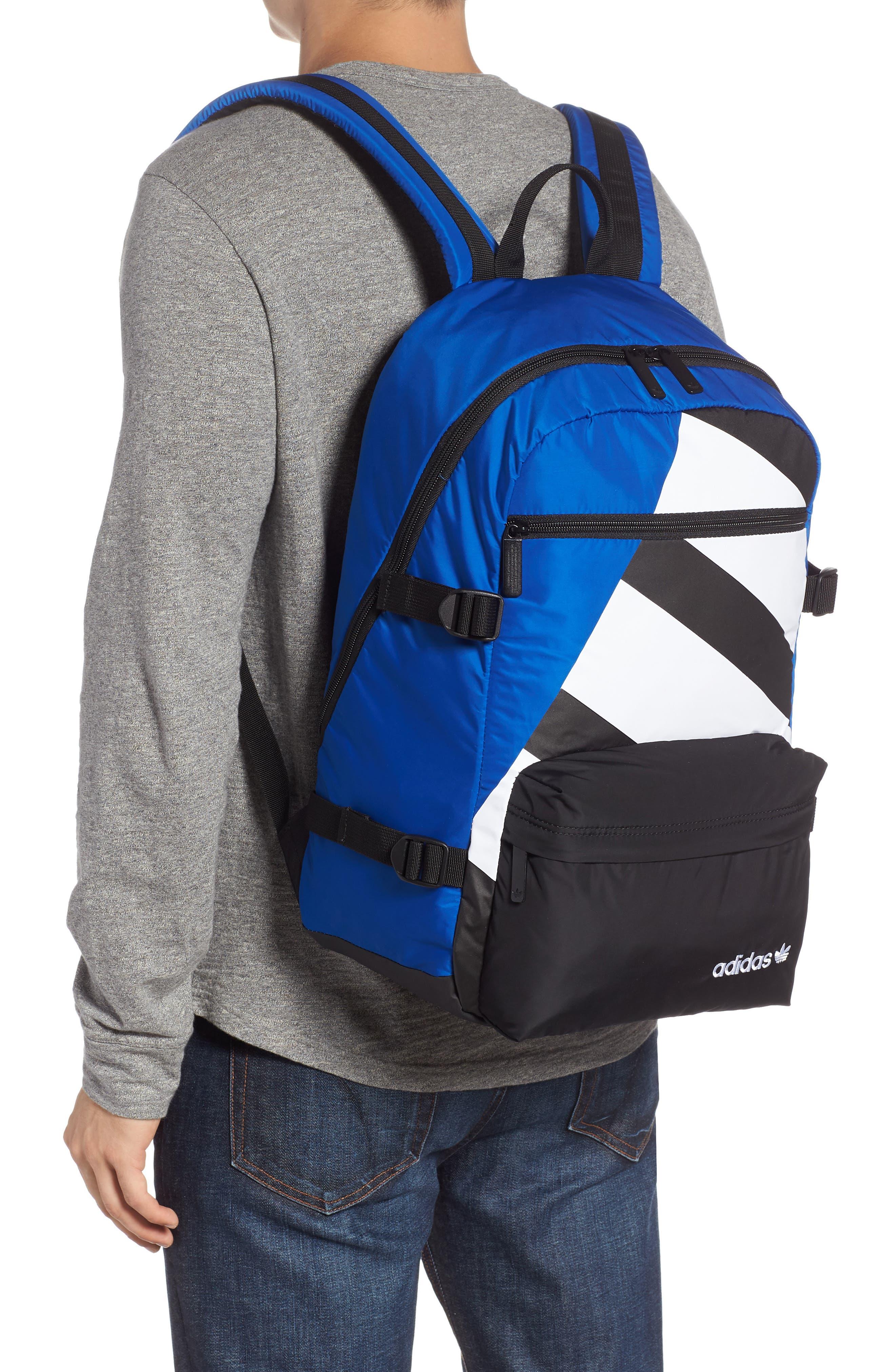 adidas Original EQT Blocked Backpack,                             Alternate thumbnail 2, color,                             COLLEGIATE BLUE/ BLACK/ WHITE