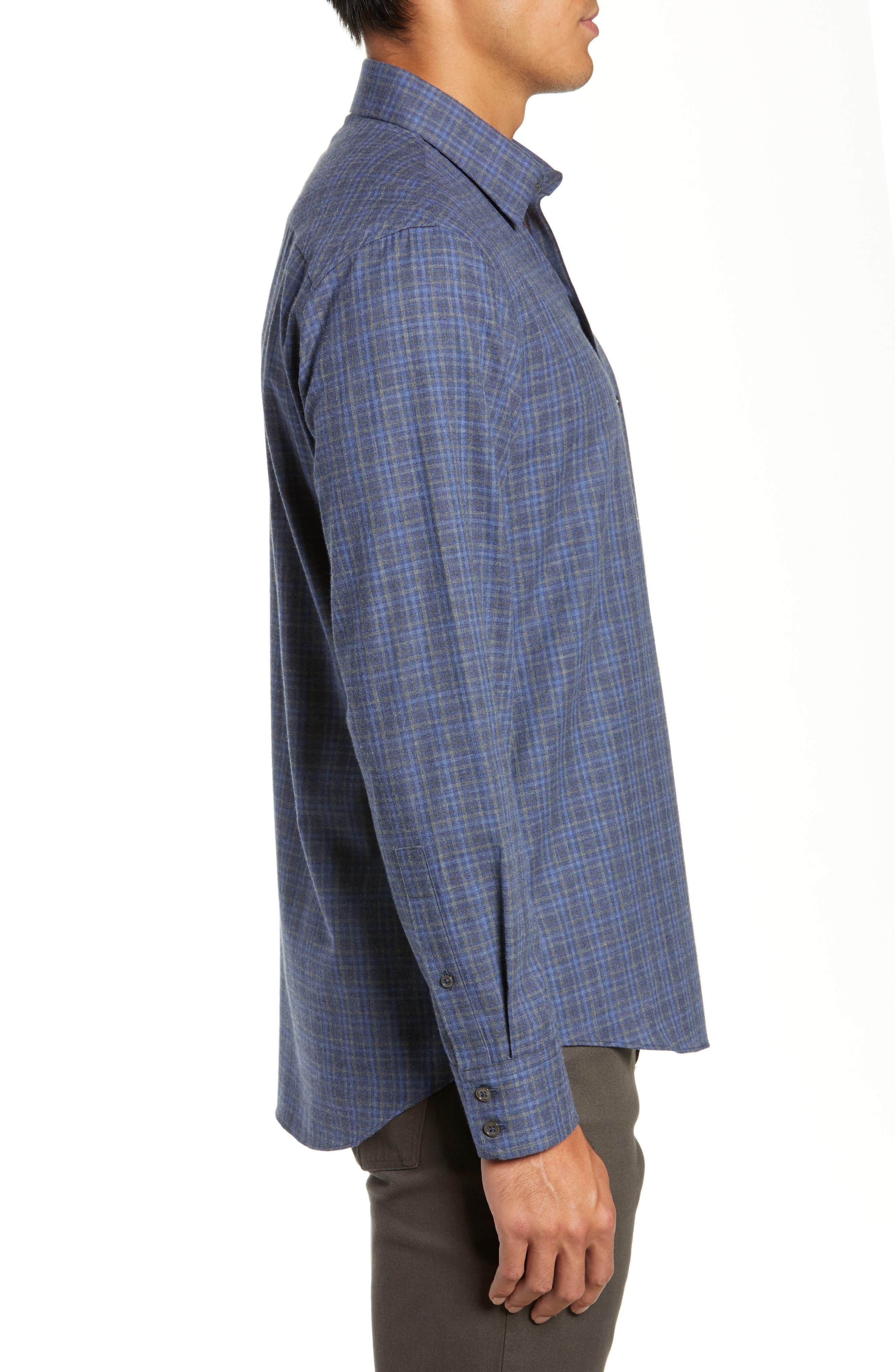 Nguyen Regular Fit Sport Shirt,                             Alternate thumbnail 4, color,                             DARK BLUE
