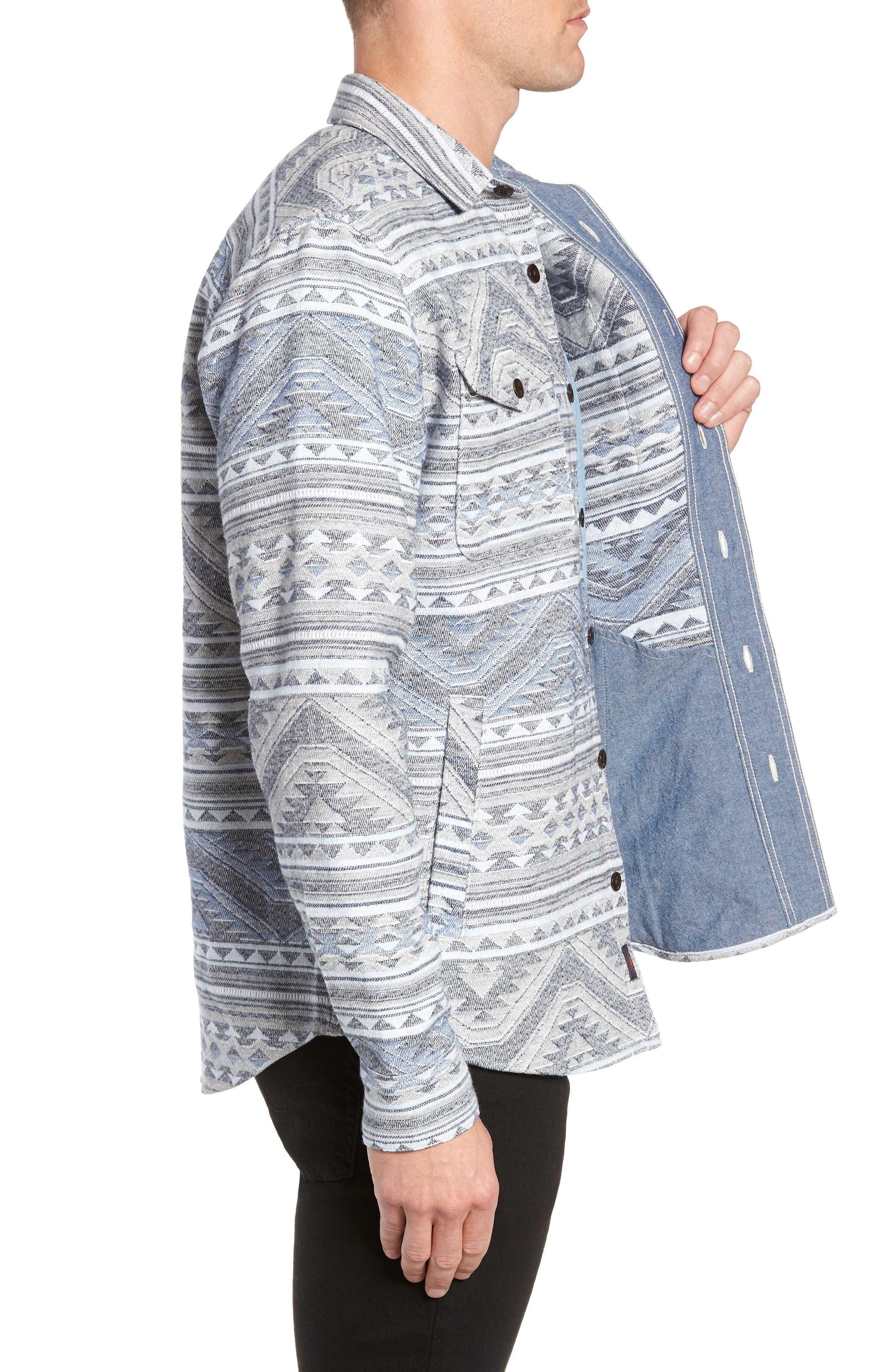 Durango CPO Cotton Work Shirt,                             Alternate thumbnail 3, color,                             TWILIGHT GLACIER