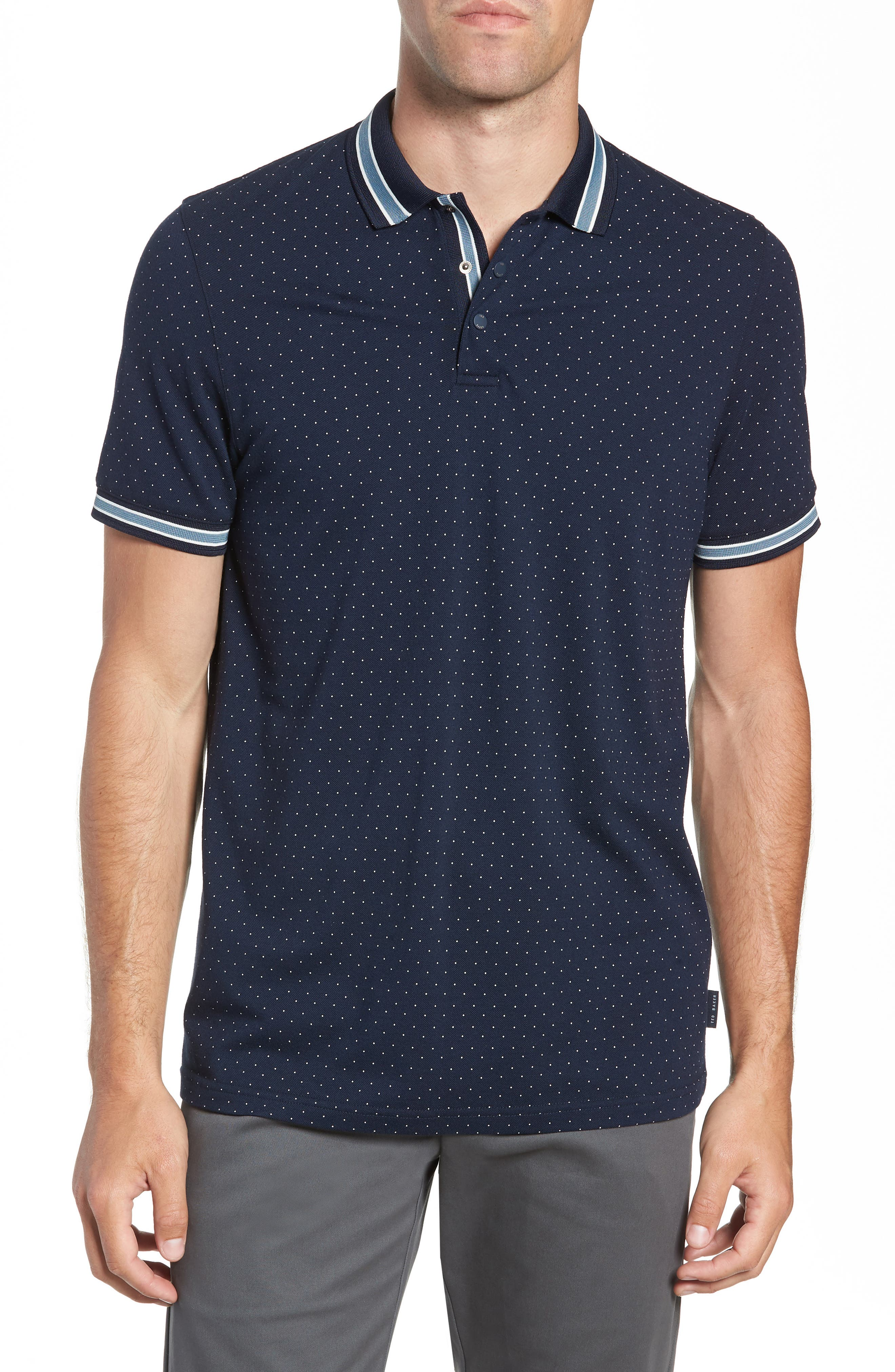 Museo Slim Fit Tipped Piqué Polo, Main, color, 410