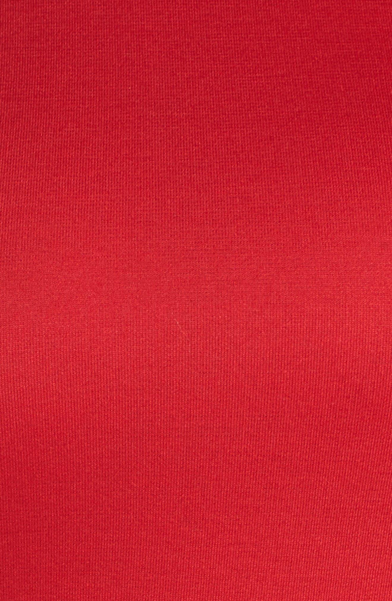 Frill Sleeve Cold Shoulder Skater Dress,                             Alternate thumbnail 5, color,