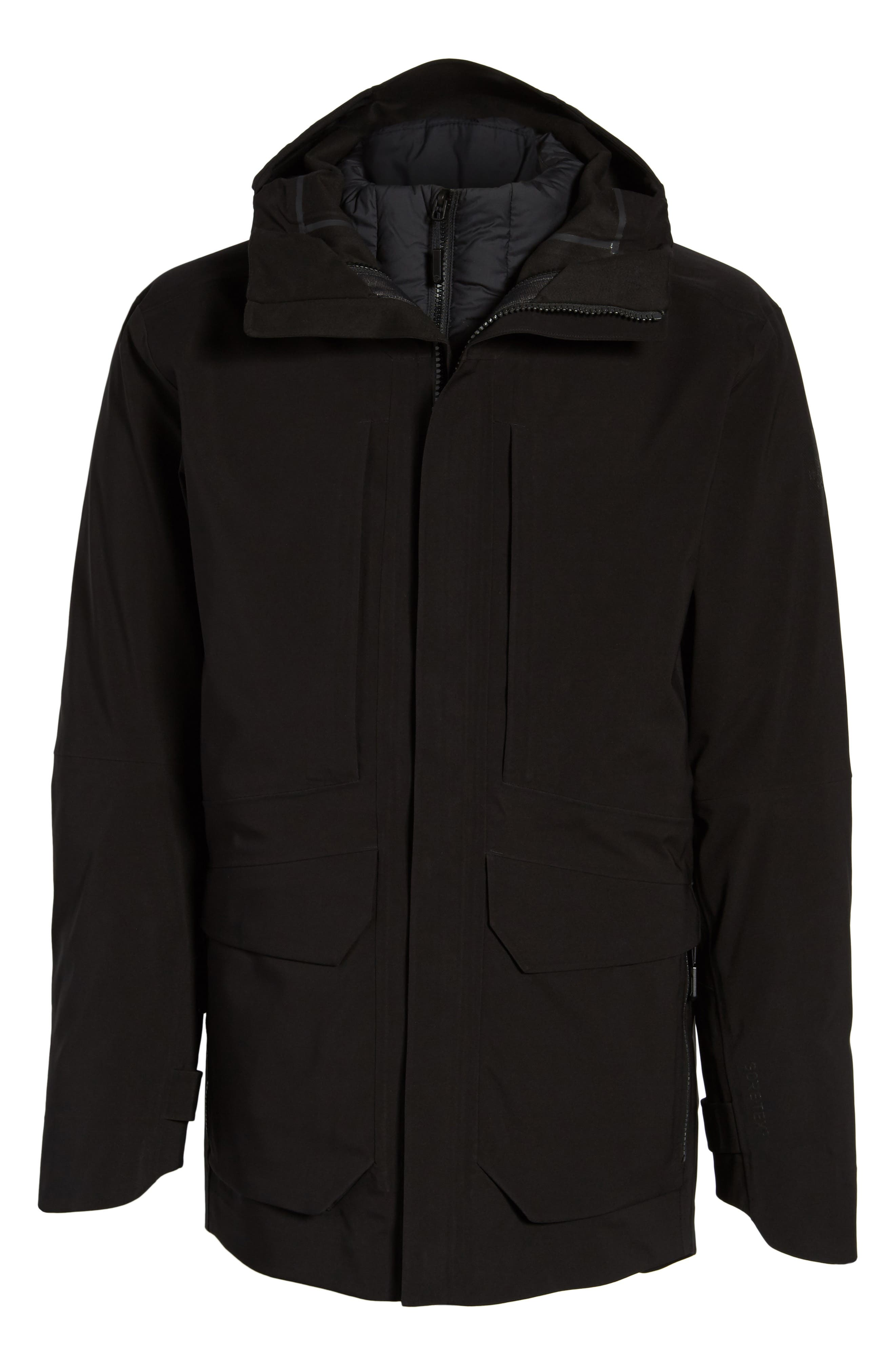 Cryos Gore-Tex<sup>®</sup> Tri-Climate 3-in-1 Jacket,                             Alternate thumbnail 5, color,                             TNF BLACK