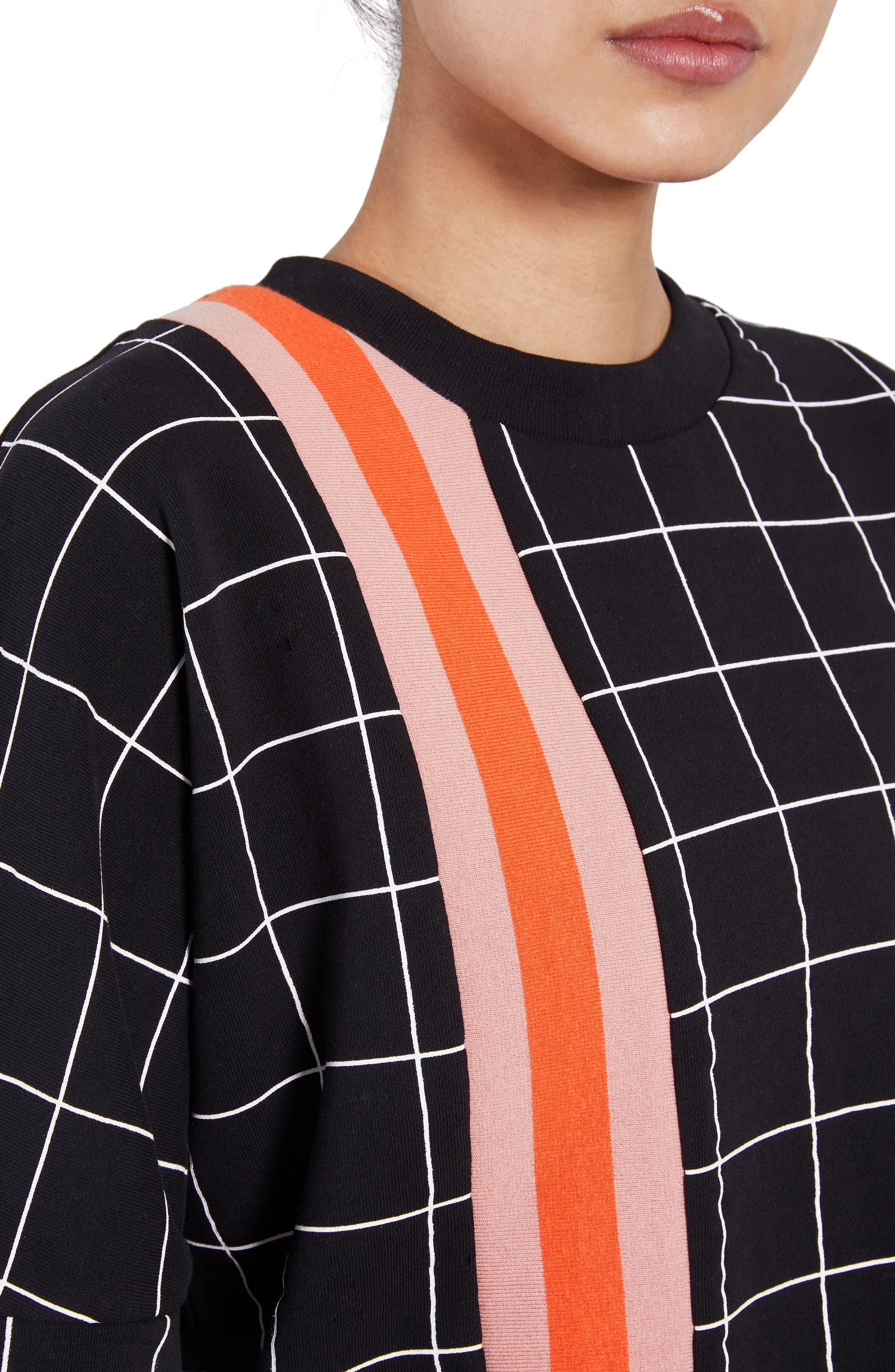 The Mogul Sweatshirt,                             Alternate thumbnail 4, color,                             BLACK PRINT